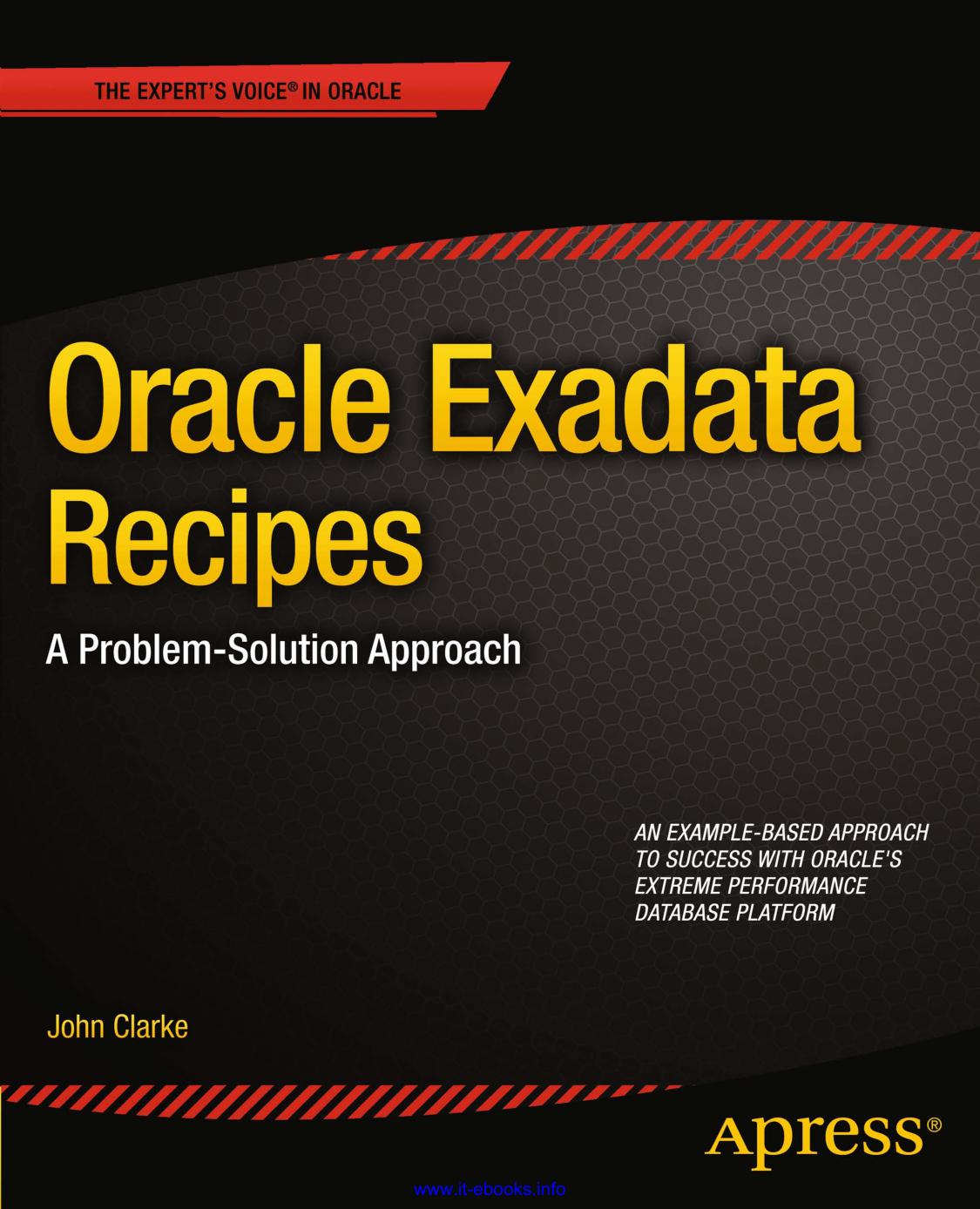 Oracle Exadata Recipes - doc-developpement | manualzz com