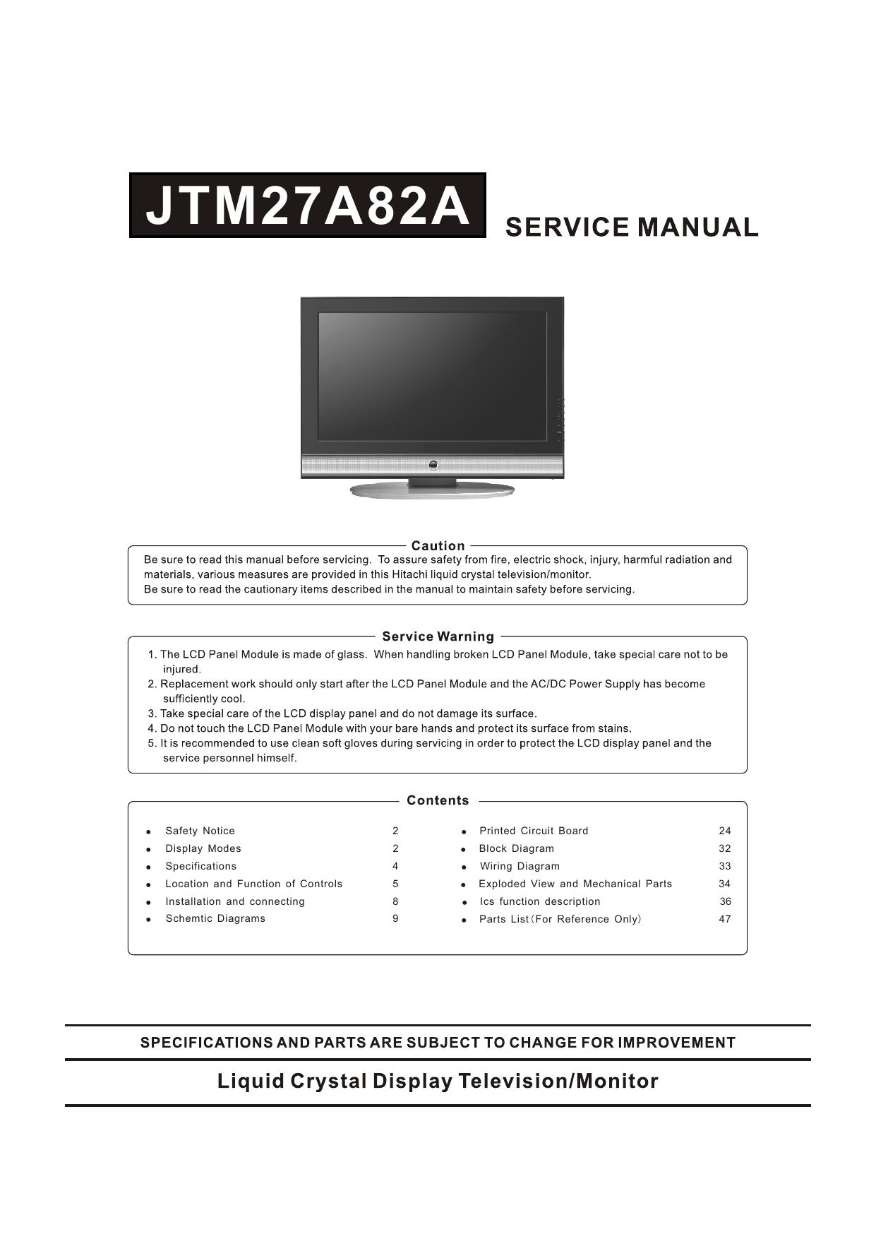 Jtm27a82a Audio E Video Center Ics Wiring Diagram