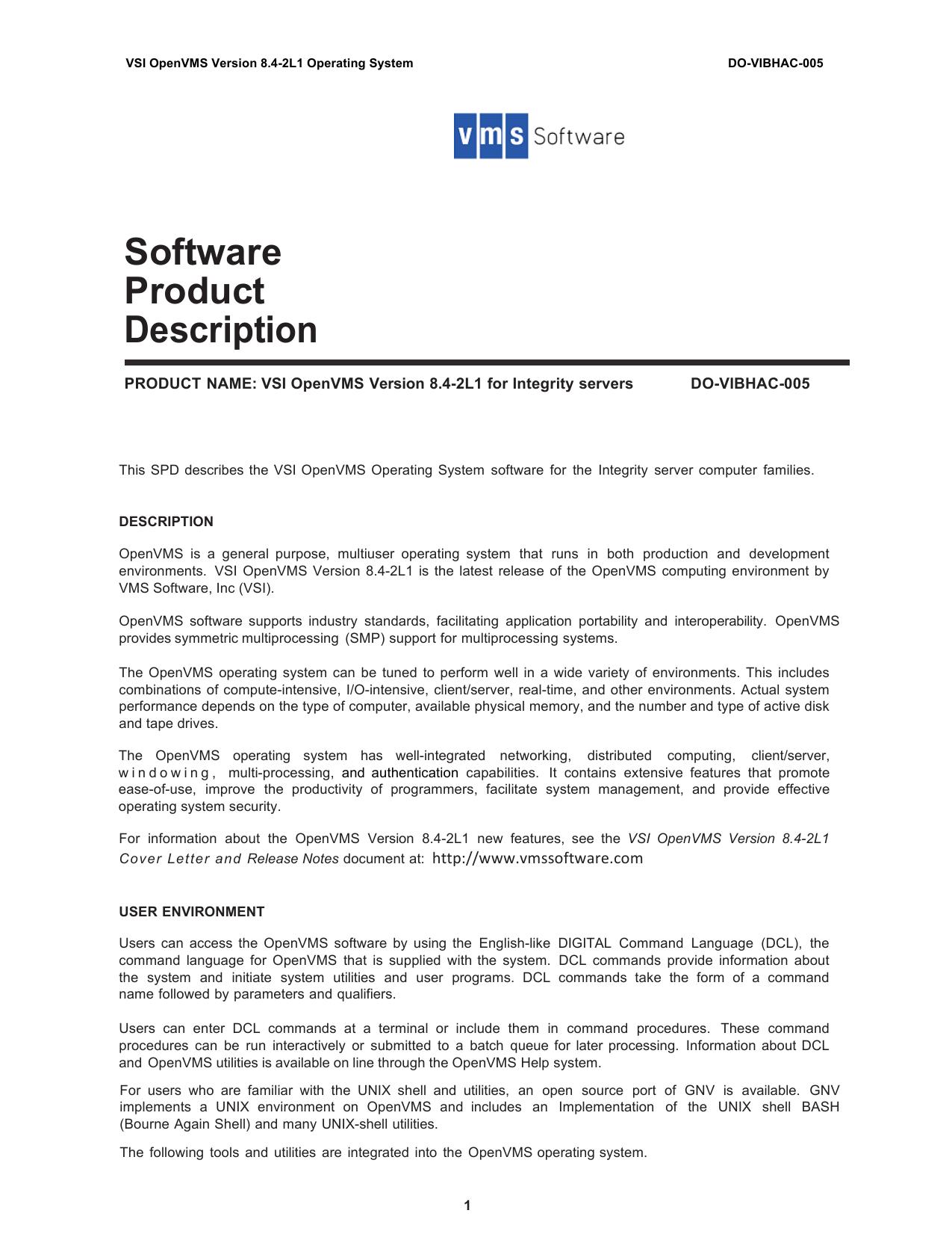 SPD - VMS Software, Inc. | manualzz.com