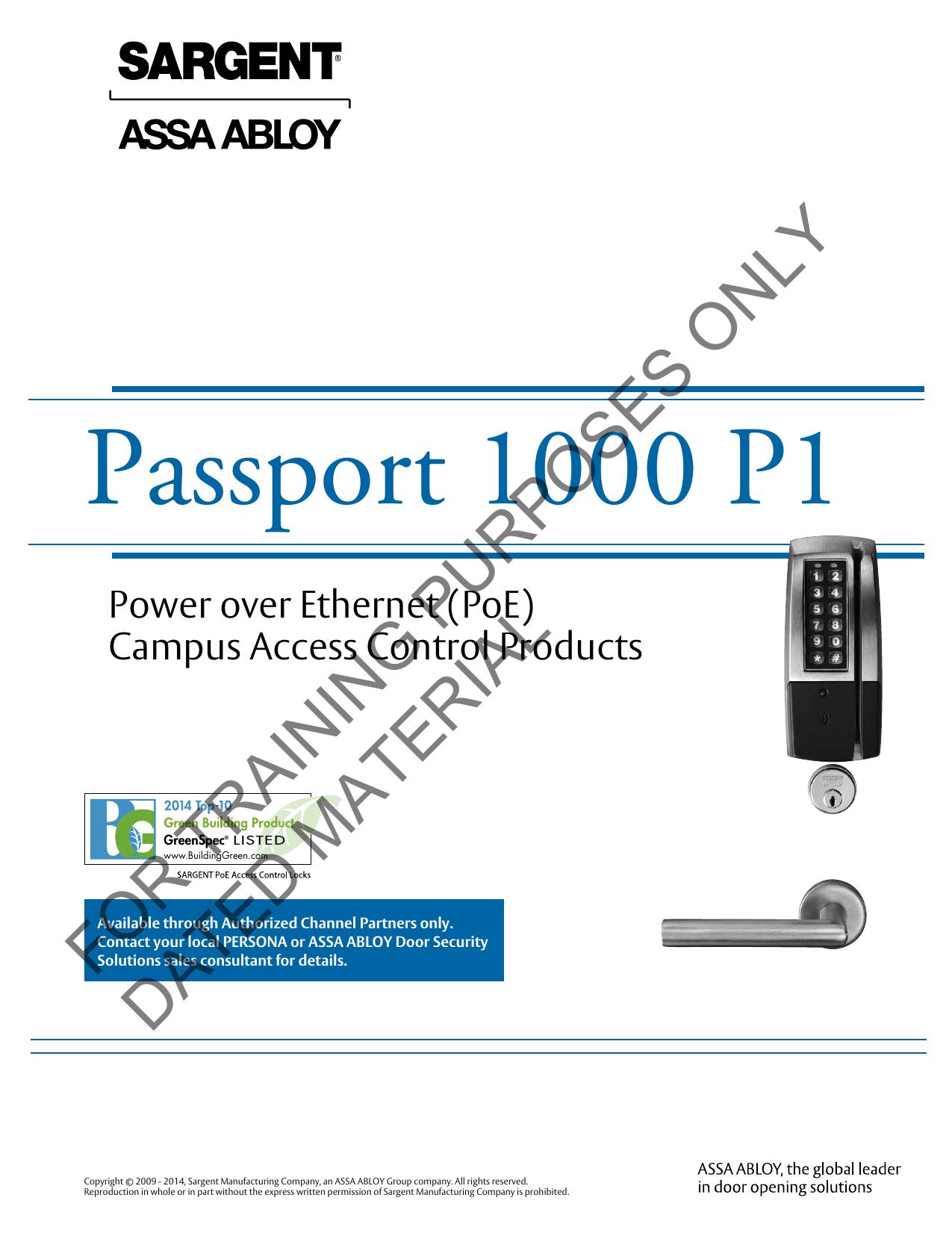 Catalog-Sargent-Passport 1000 P1 | manualzz com
