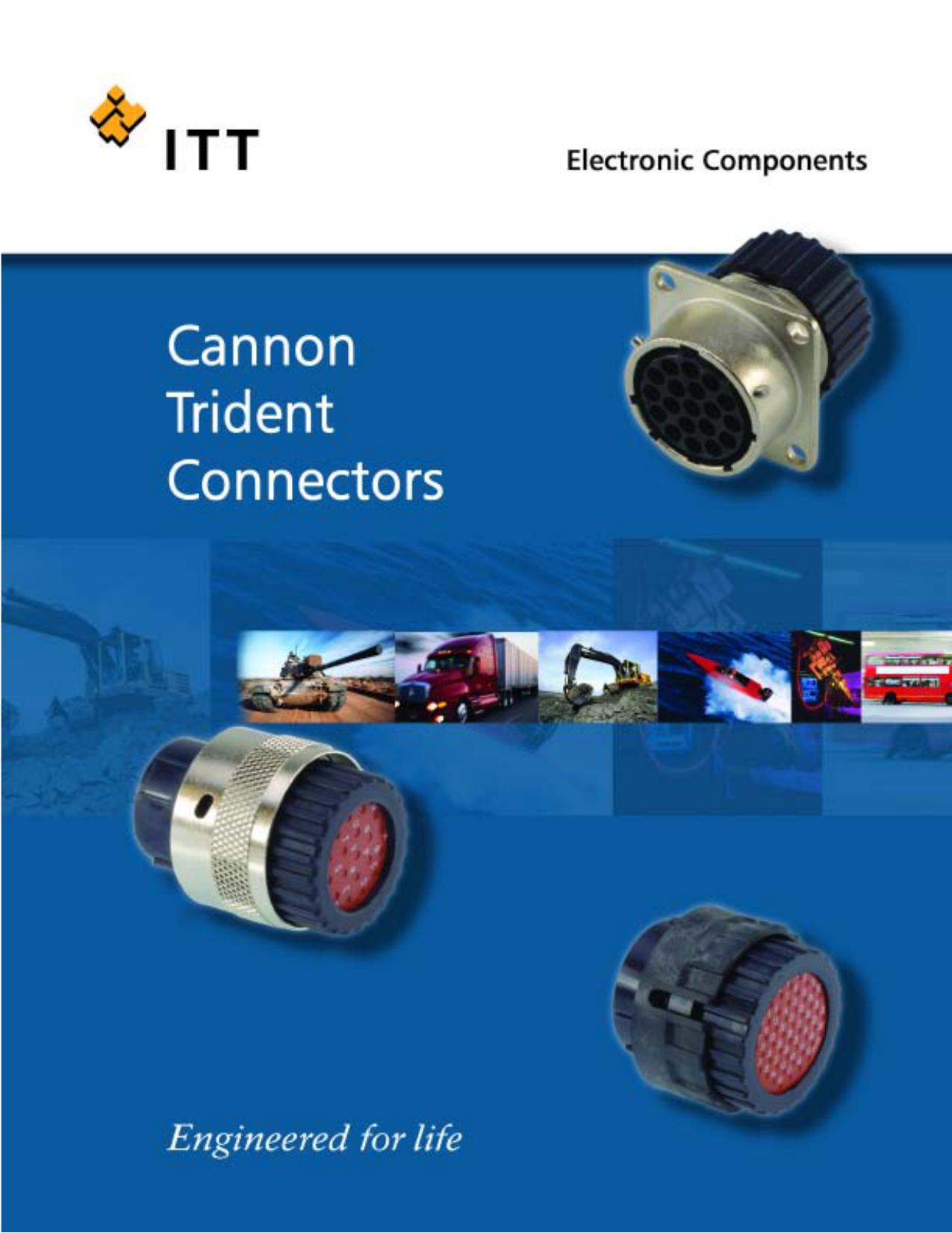ITT Cannon-tr24asr1n-backshell taille 24