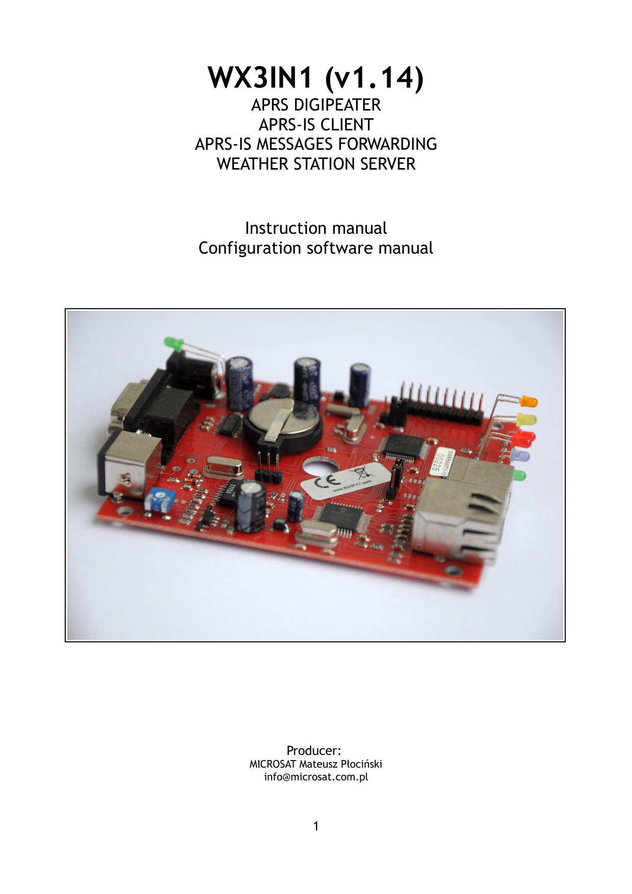 WX3IN1 - Microsat | manualzz com