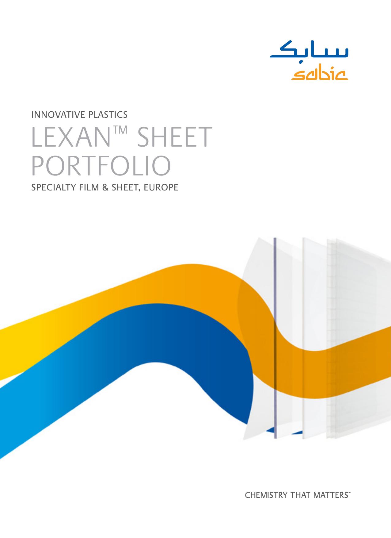 lexan™ sheet portfolio - SABIC Innovative Plastics