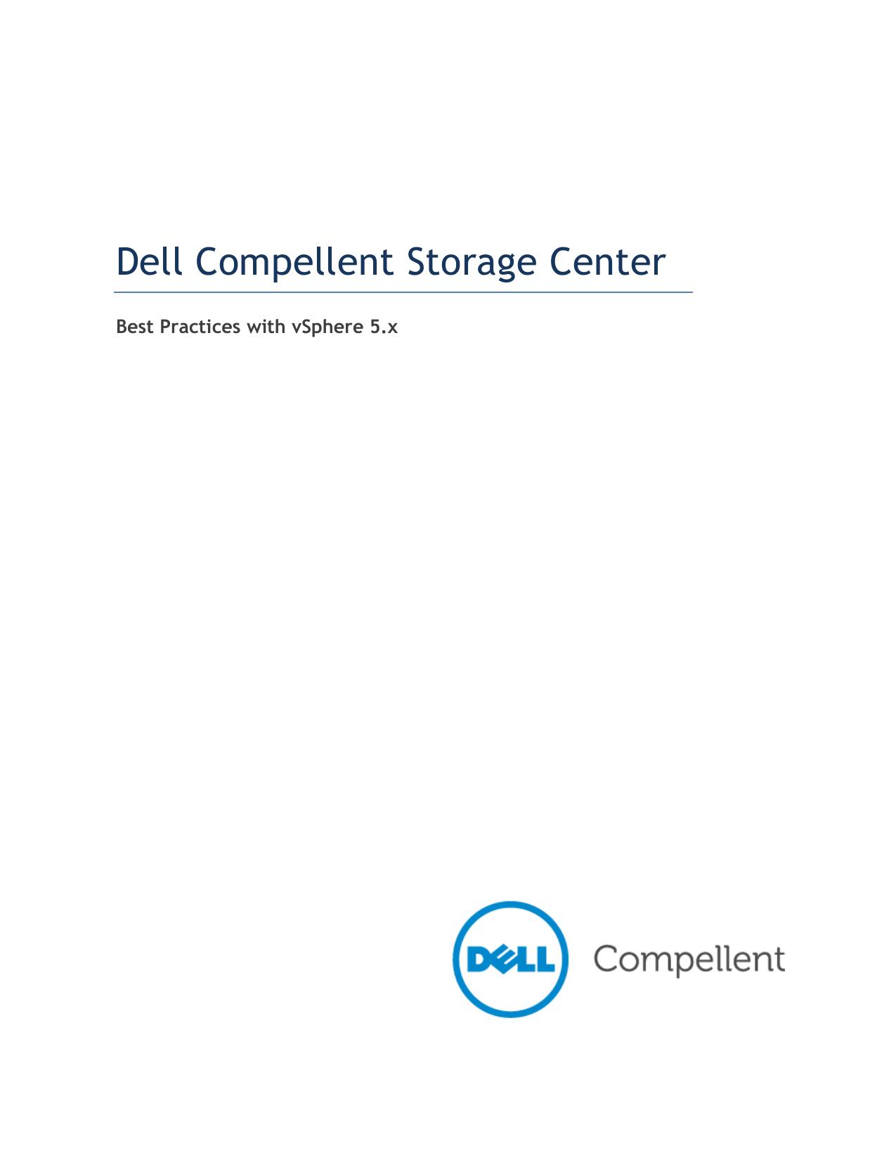 Dell Compellent Best Practices with VMware ESX 5 x | manualzz com