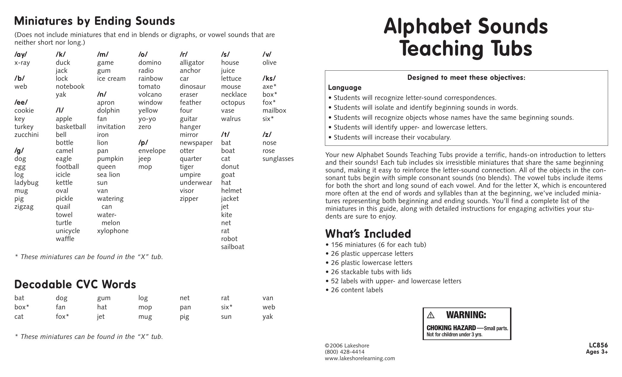 Alphabet Sounds Teaching Tubs Manualzz