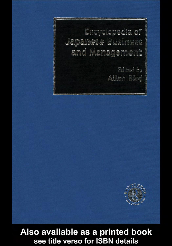 baa52209b encyclopedia of japanese business and management | manualzz.com