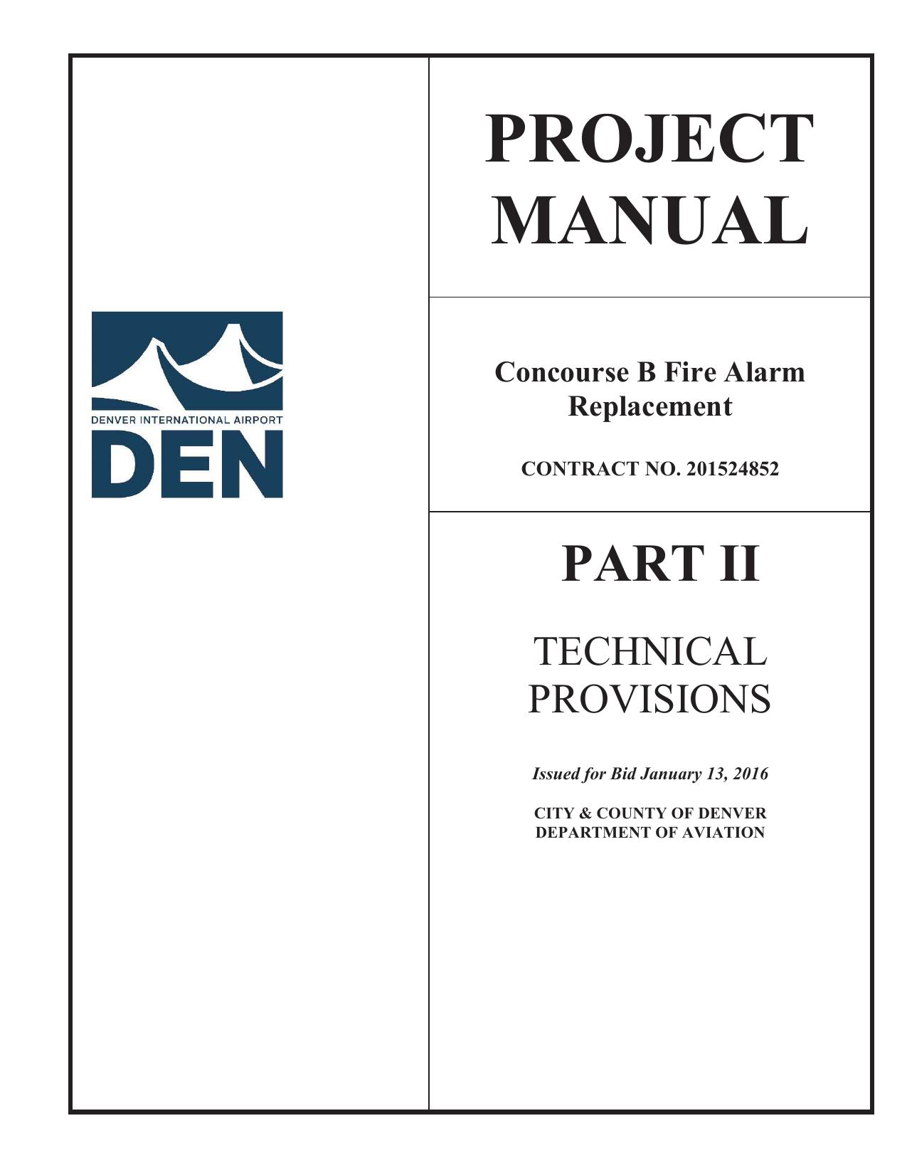 PROJECT MANUAL Concourse B Fire Alarm   manualzz com