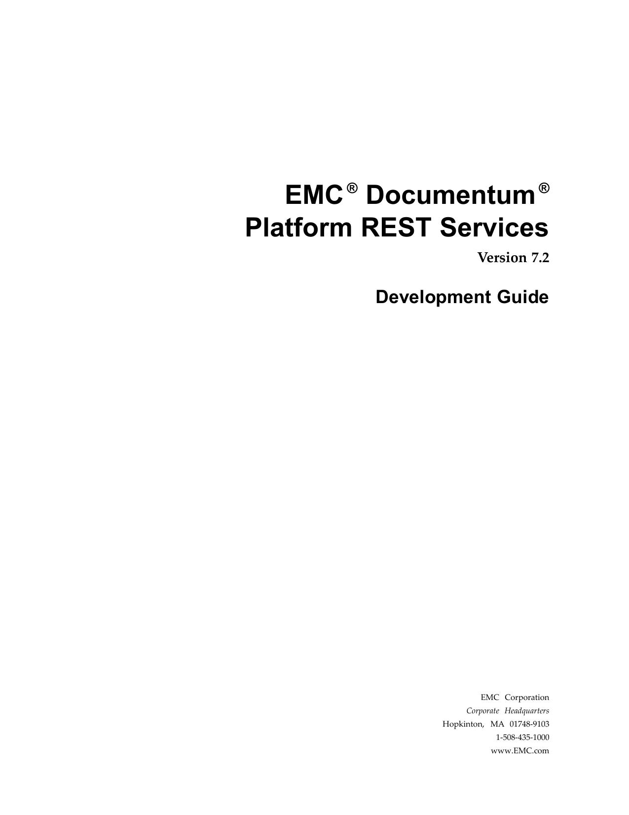 Documentum Platform REST Services 7.2 Development Guide ...