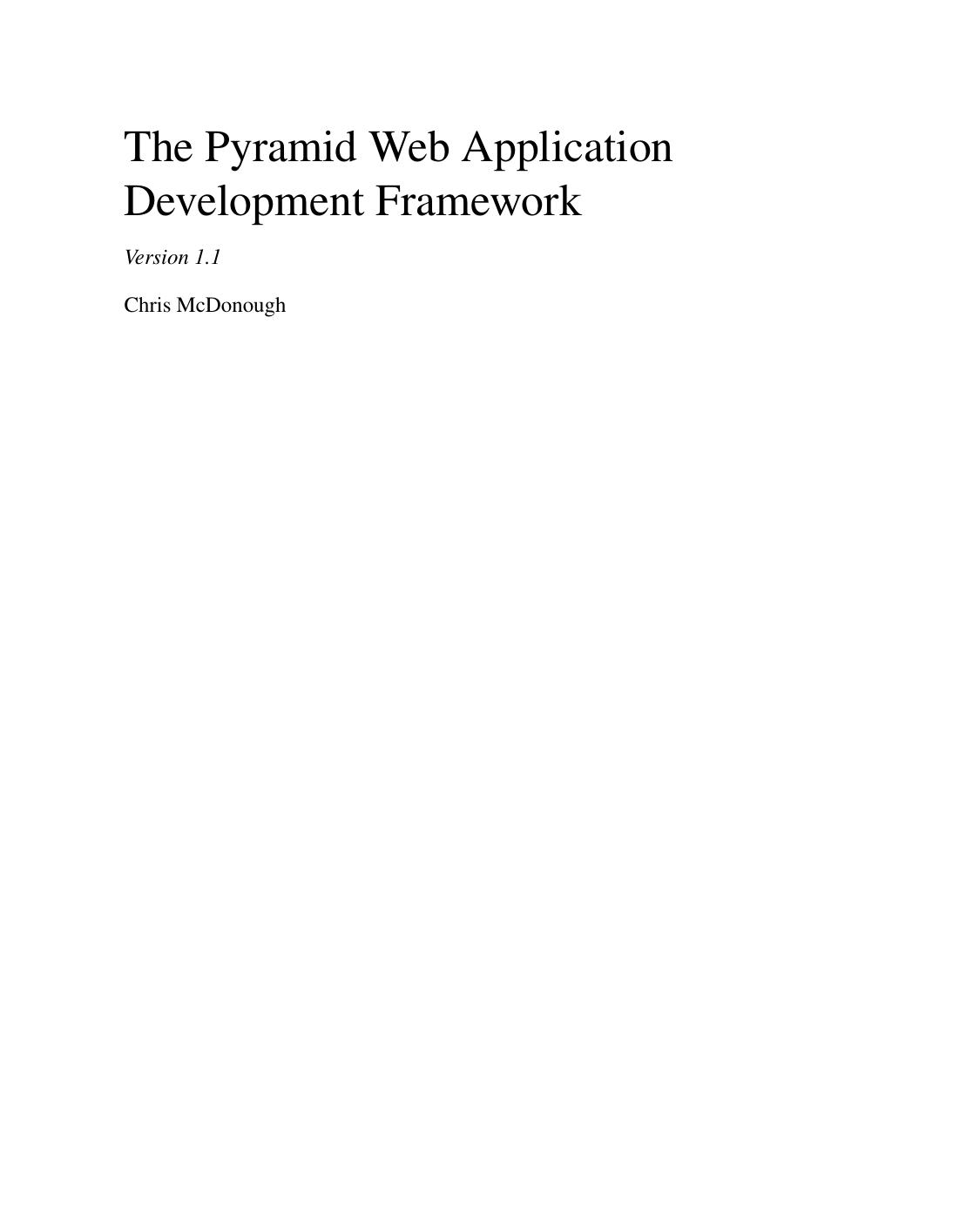 The Pyramid Web Application Development | manualzz com