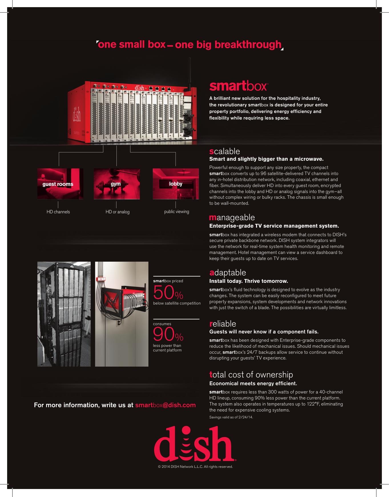 SMARTBOX™ Specs - Pro Telecom Solutions | Dish Sales | manualzz com