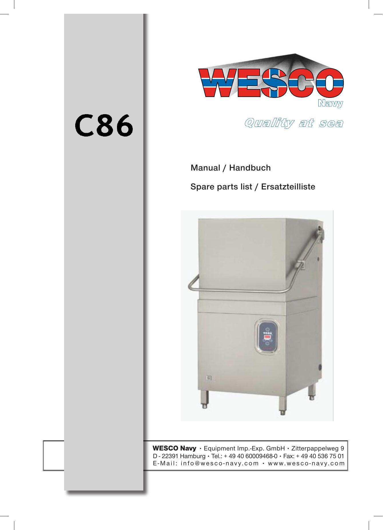C86 - WESCO-Navy | manualzz.com Wesco Thermostat Wiring Diagram on