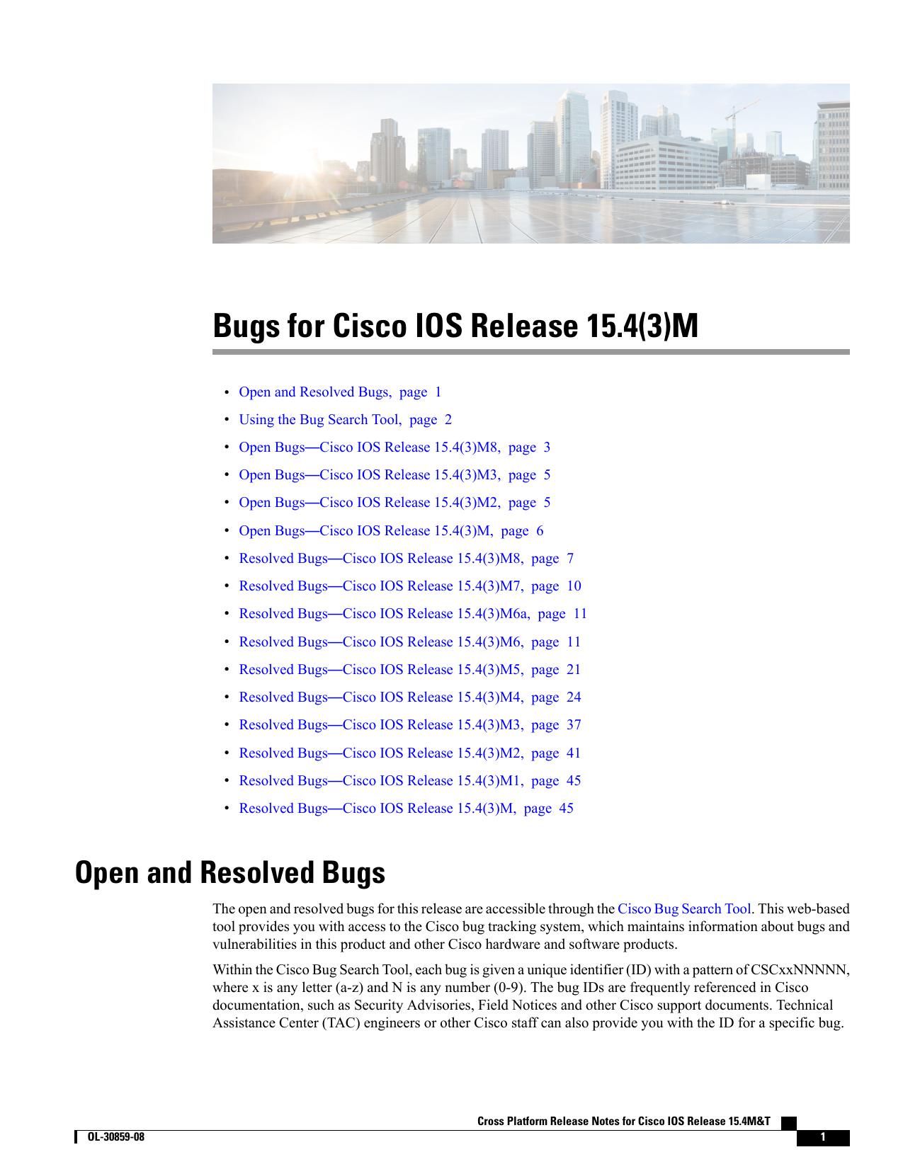 Bugs for Cisco IOS Release 15 4(3)M | manualzz com