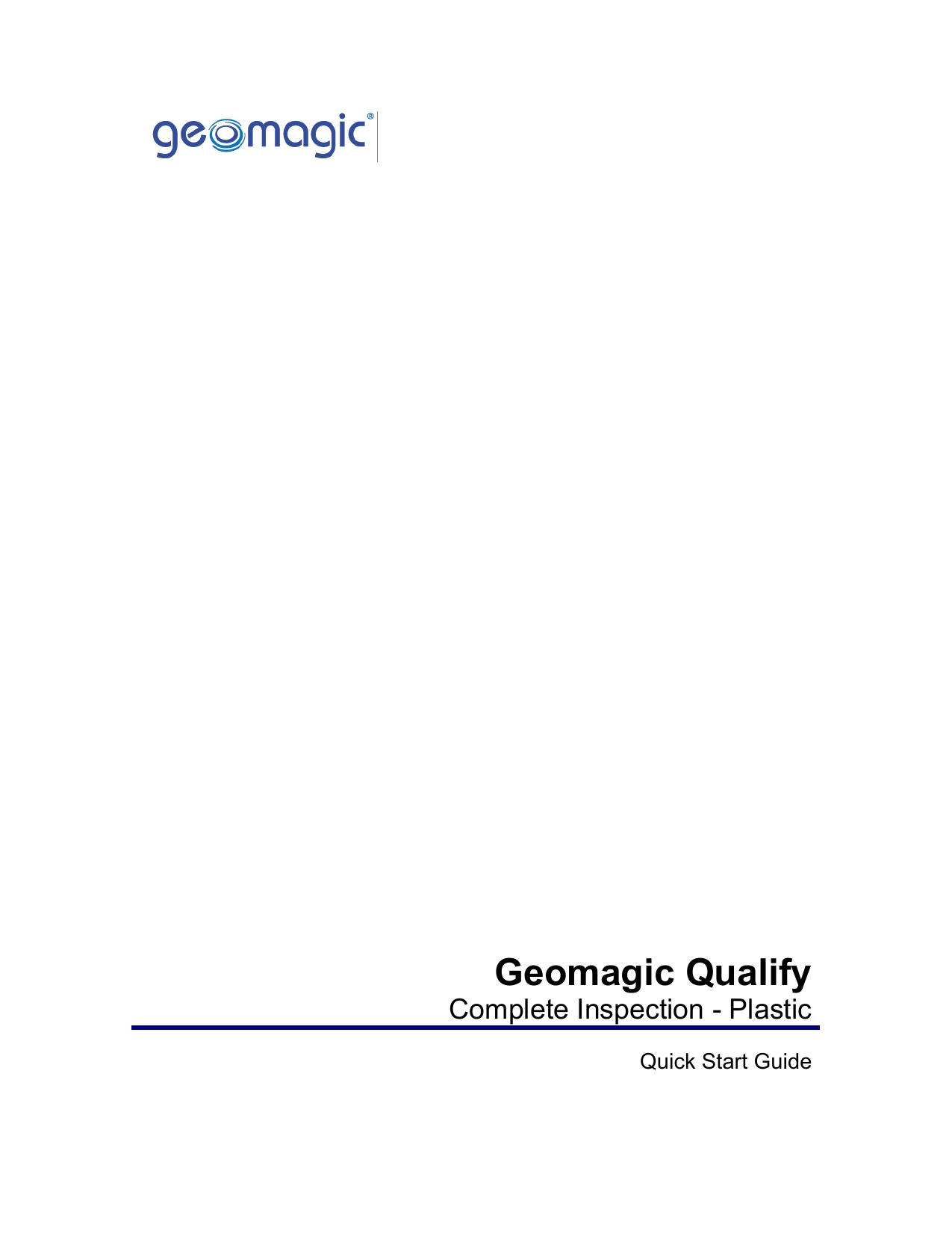 Geomagic Qualify   manualzz com