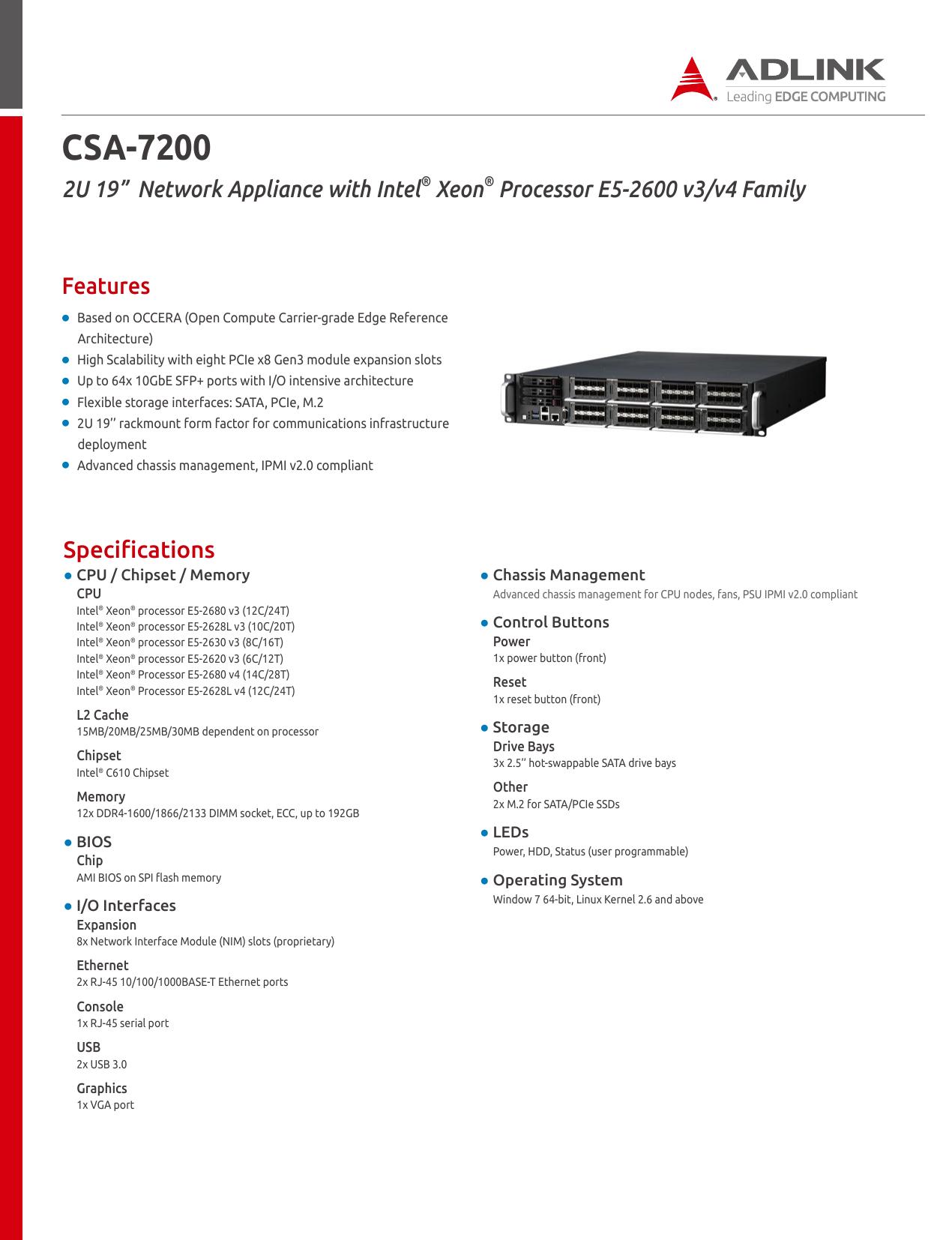 CSA-7200 - ADLINK Technology | manualzz com