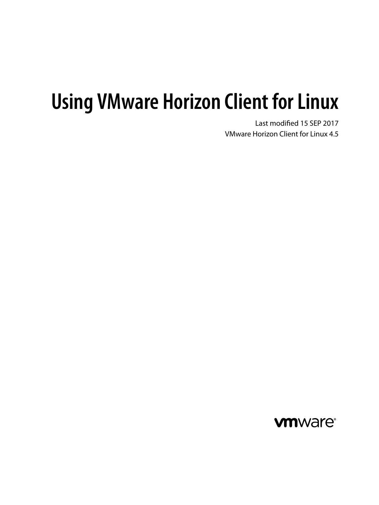 Using VMware Horizon Client for Linux   manualzz com