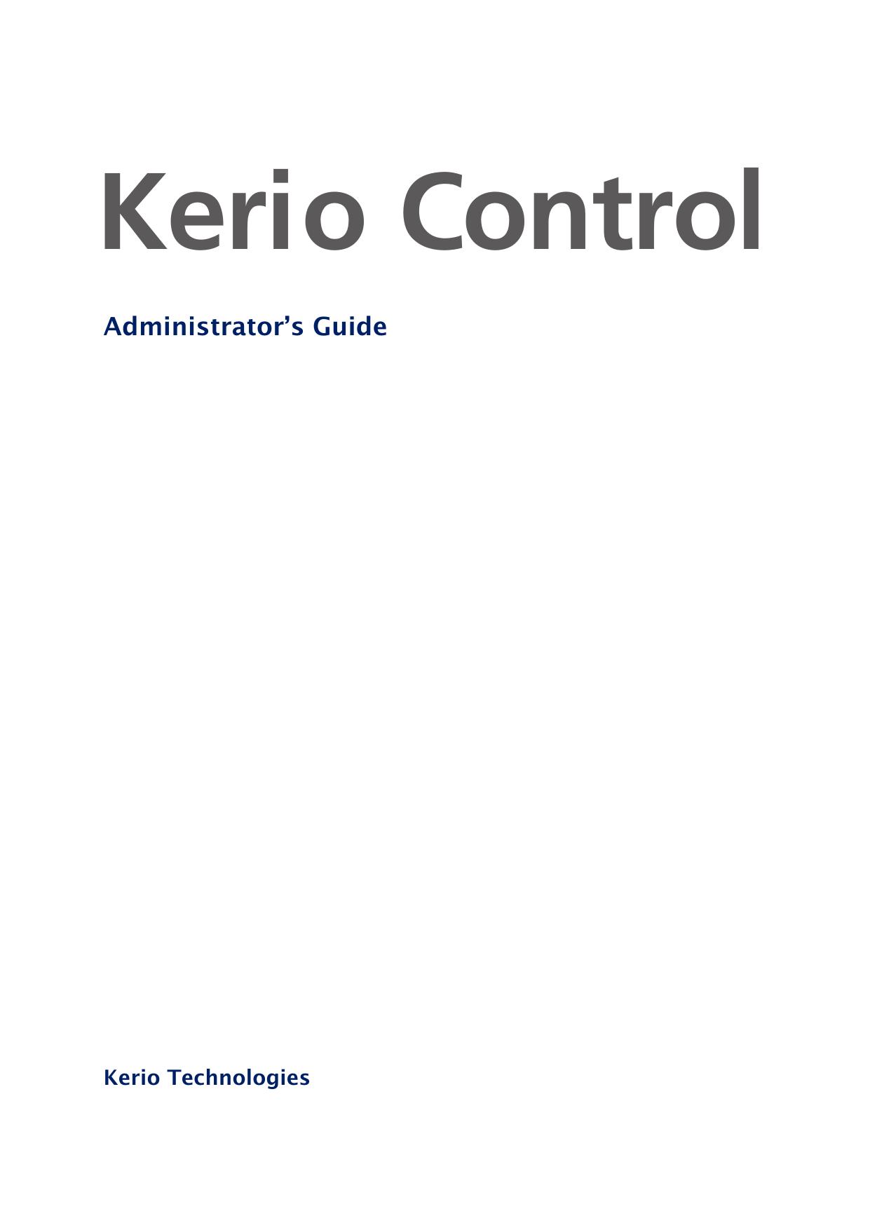 Kerio Control - Kerio Software Archive | manualzz com