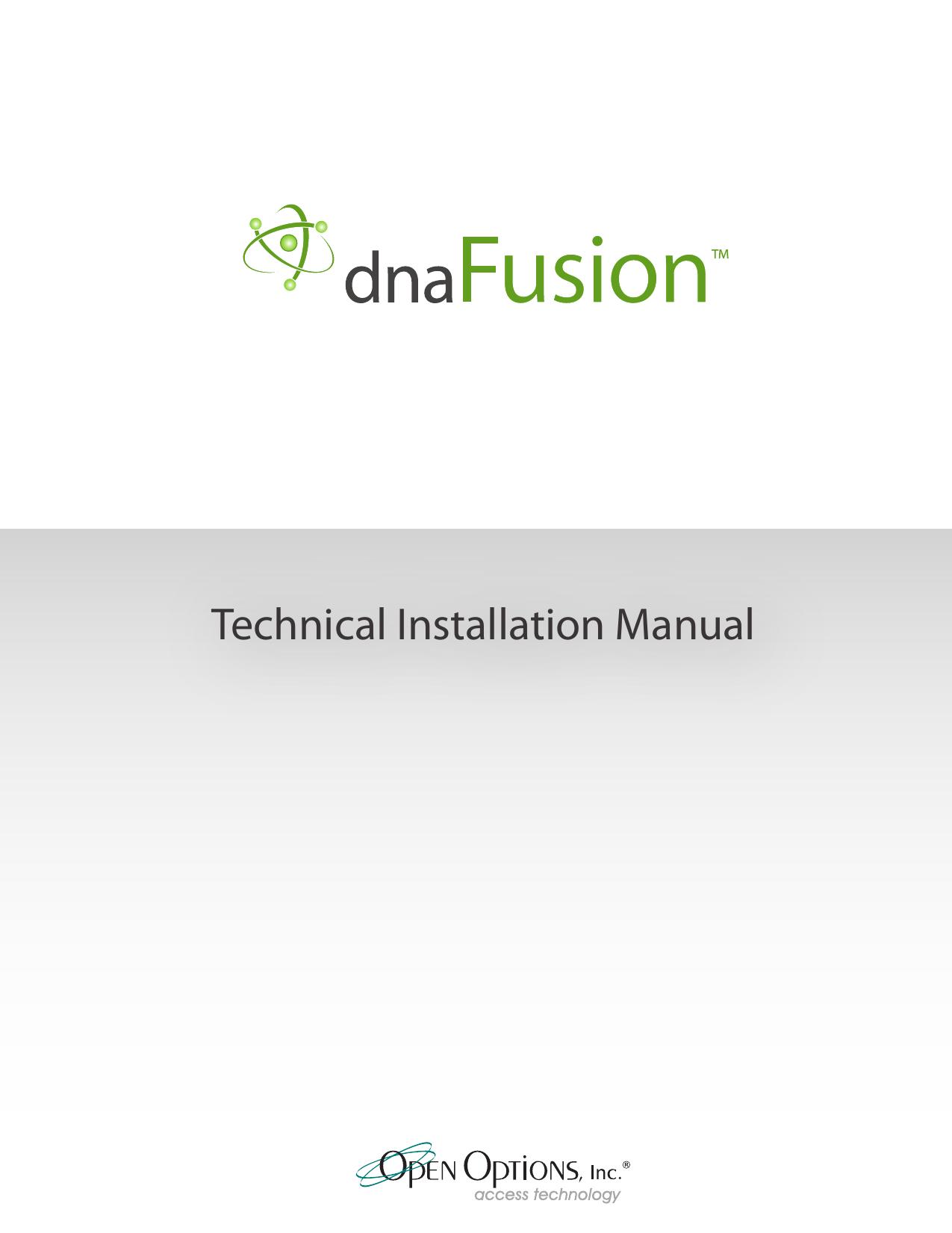 DNA Fusion - Technical Installation Manual | manualzz.com on