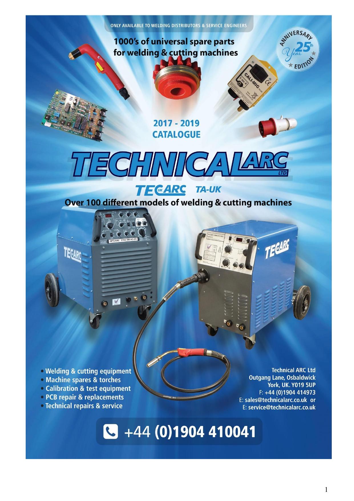 TECHNICAL ARC SERVICES 2005 CATALOGUE | manualzz.com