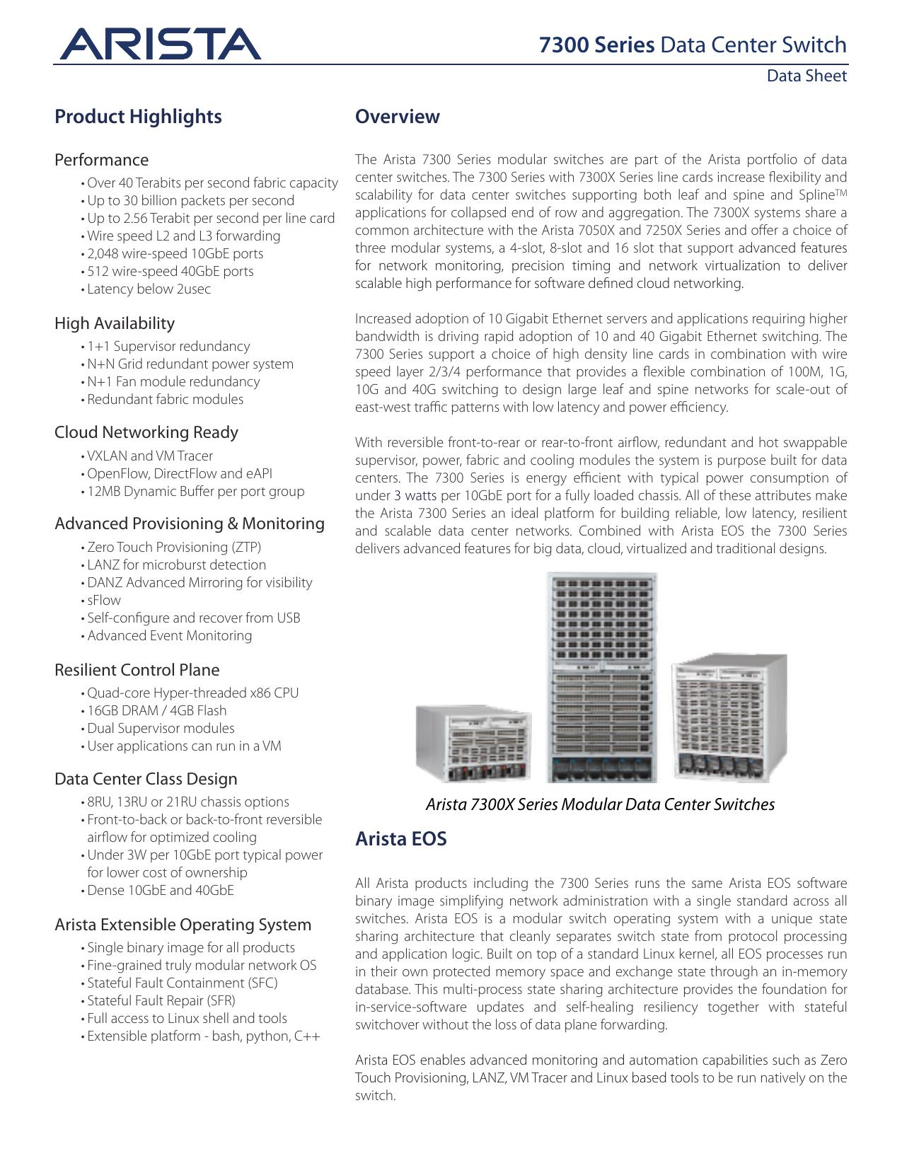 7300 Series Data Center Switch | manualzz com