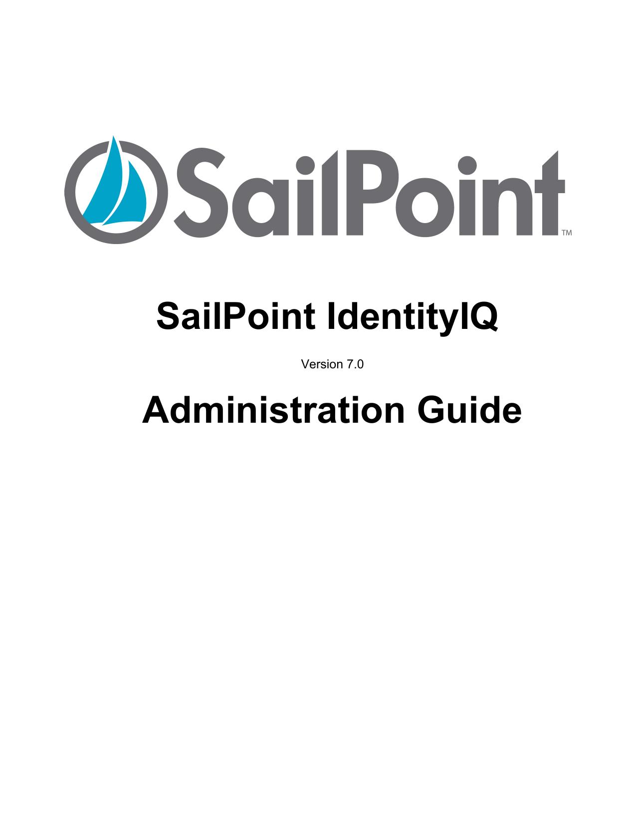 SailPoint IdentityIQ Administration Guide | manualzz com