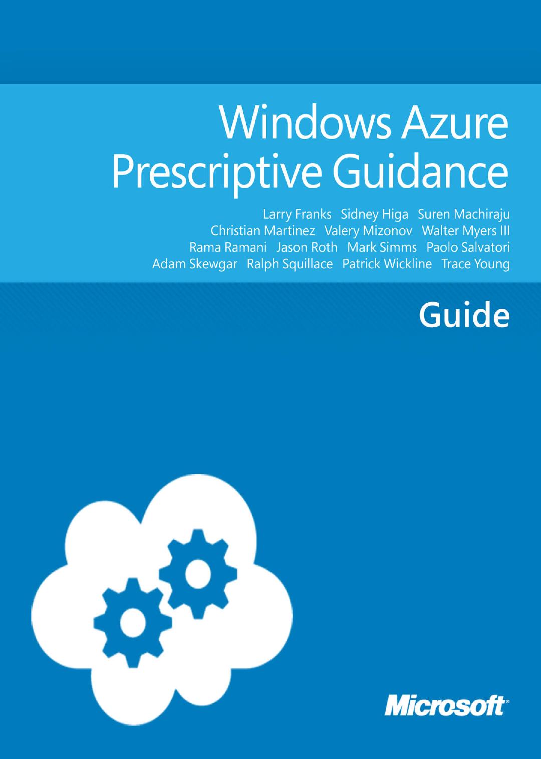 Windows Azure Prescriptive Guidance - Center | manualzz com