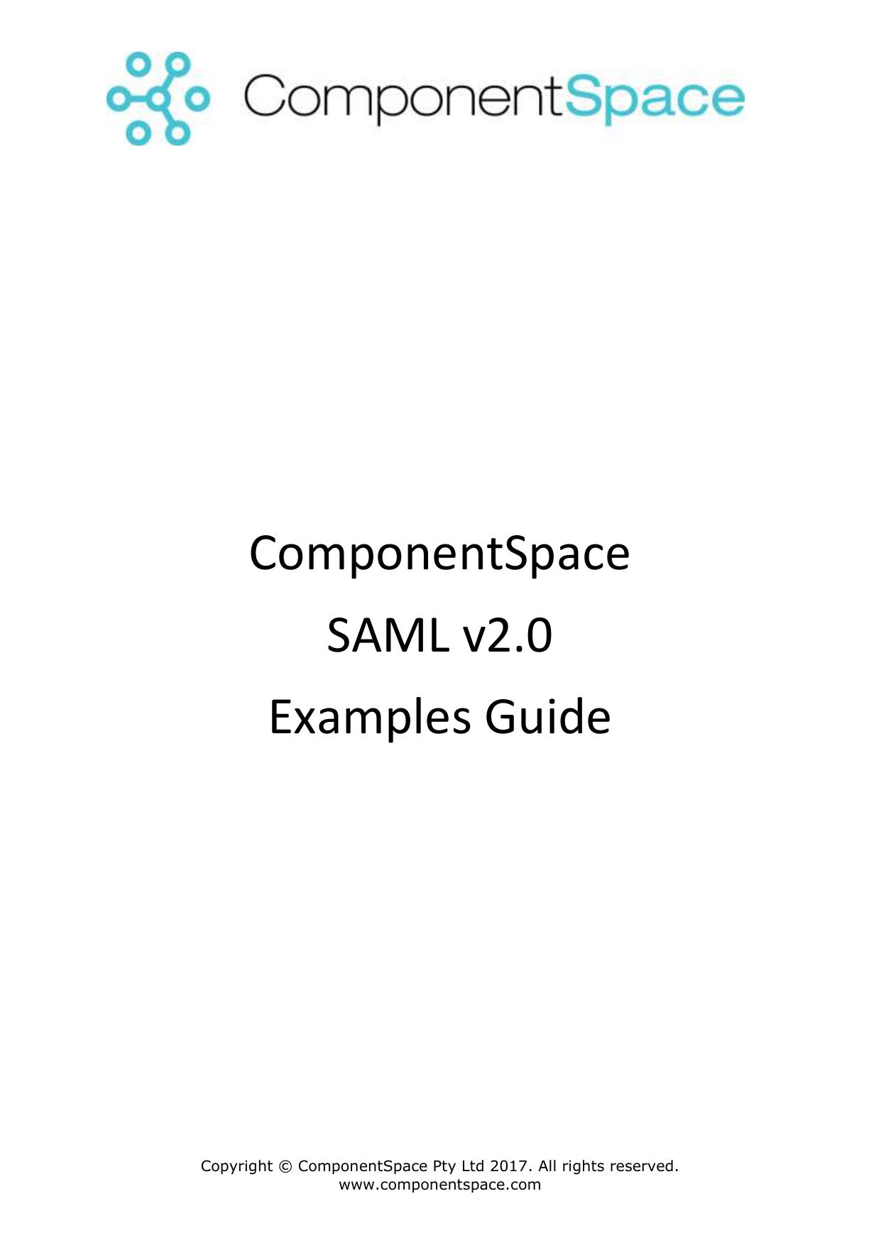 ComponentSpace SAML v2 0 Examples Guide | manualzz com