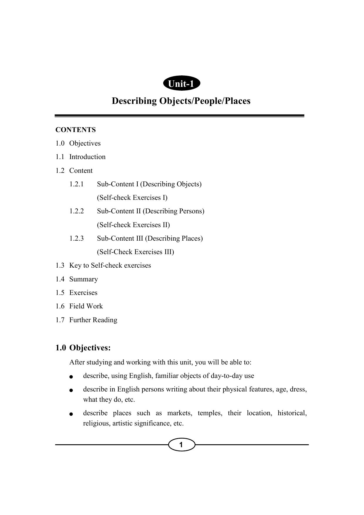 Unit-1 Describing Objects/People/Places   manualzz com