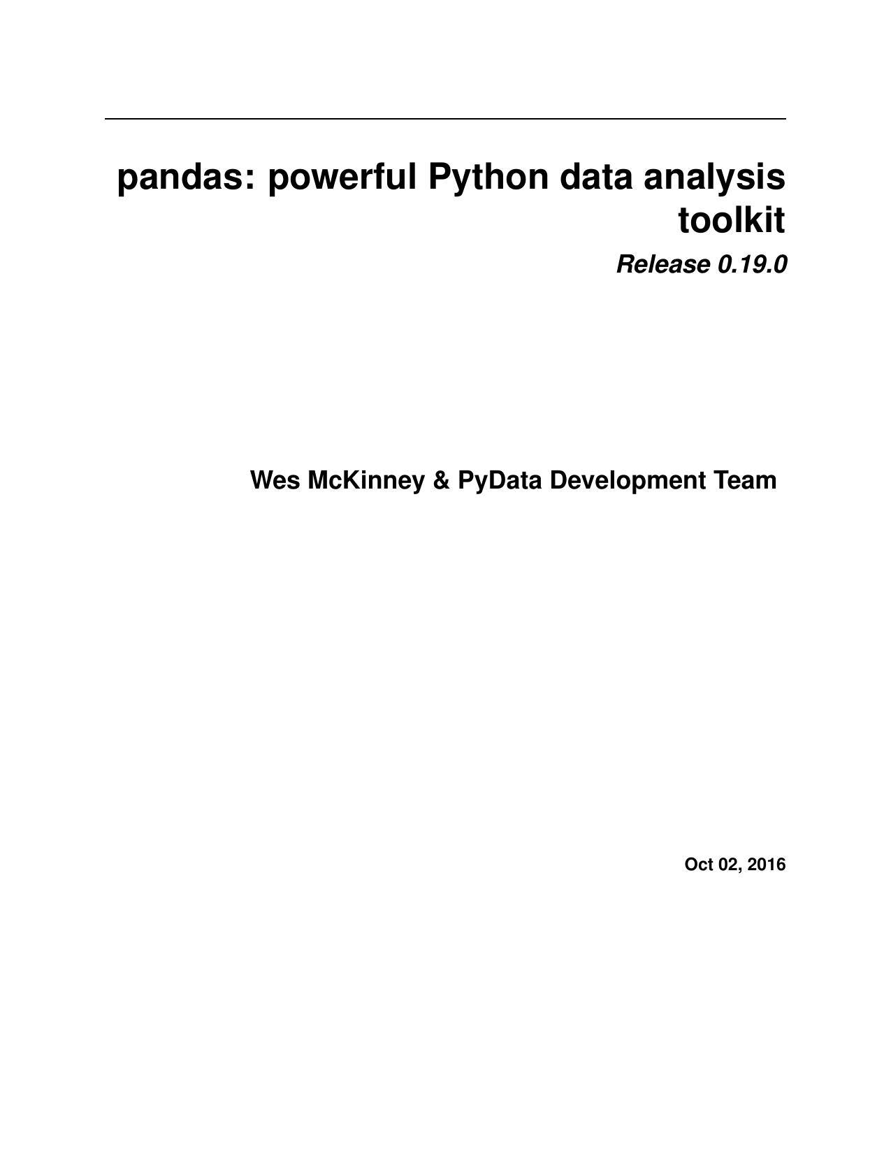 pandas: powerful Python data analysis toolkit   manualzz com