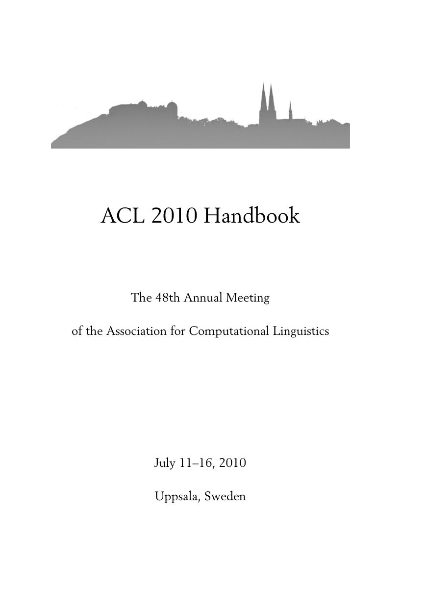 ACL 2010 Handbook | manualzz com
