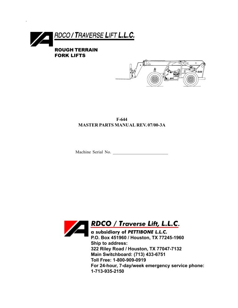 RDCO / Traverse Lift, LLC   ManualzzManualzz