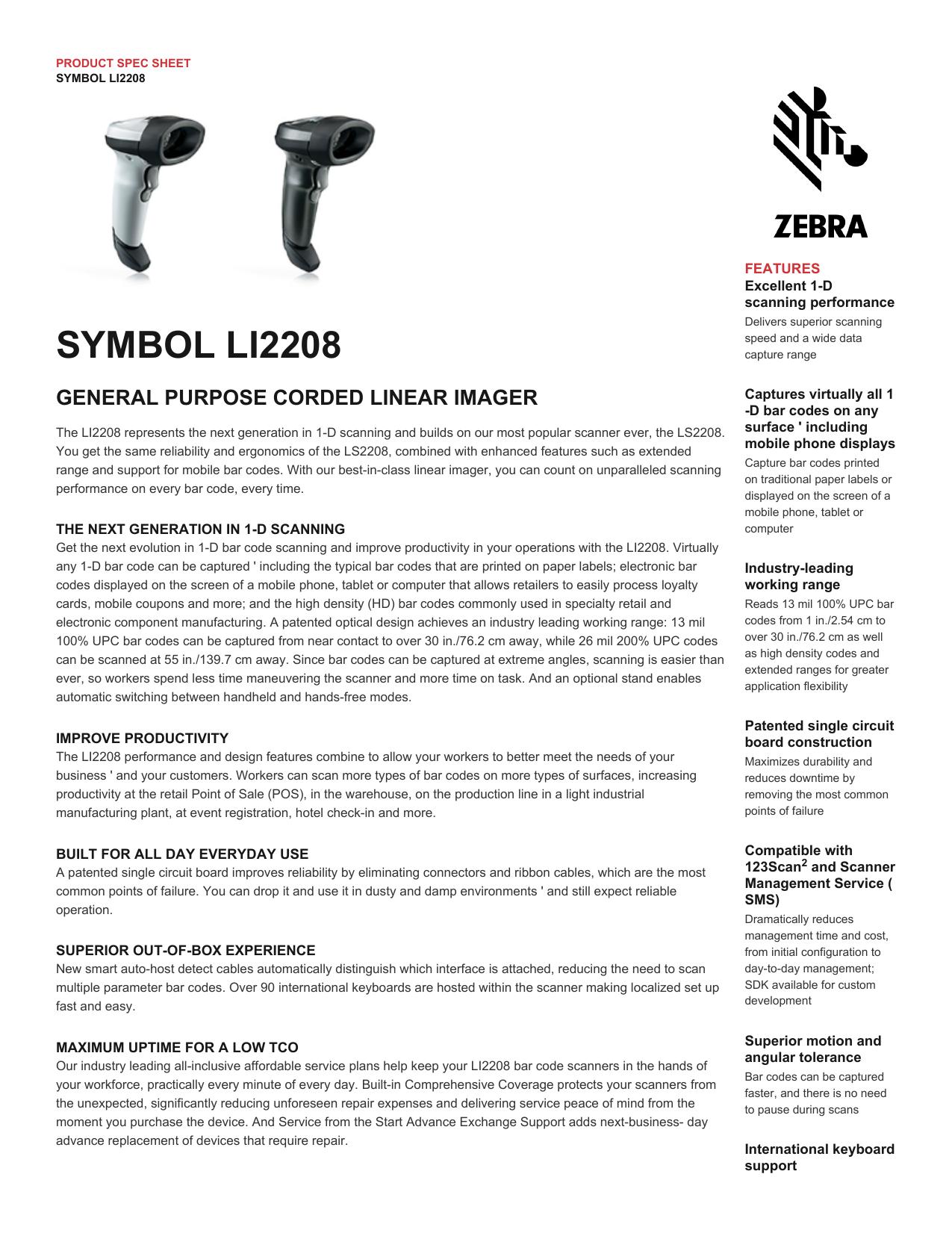 LI2208 Spec Sheet - Adaptive Data Inc  | manualzz com