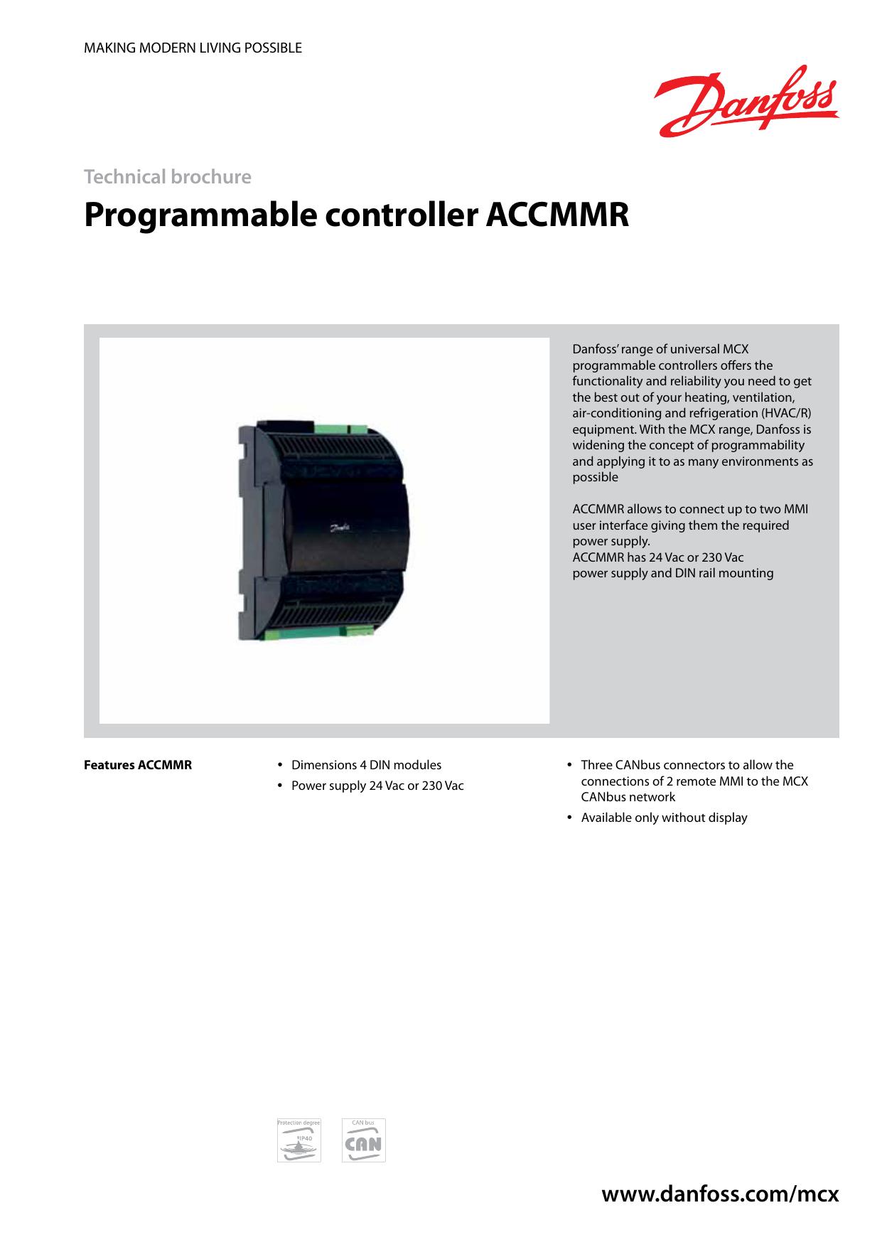 инструкция контроллер danfoss mcx