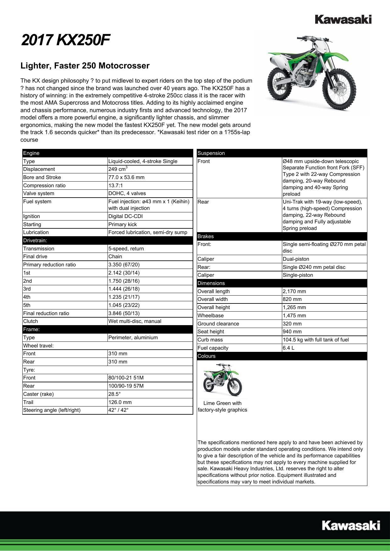2017 Kx250f Ultimate Kawasaki Ipswich Manualzz