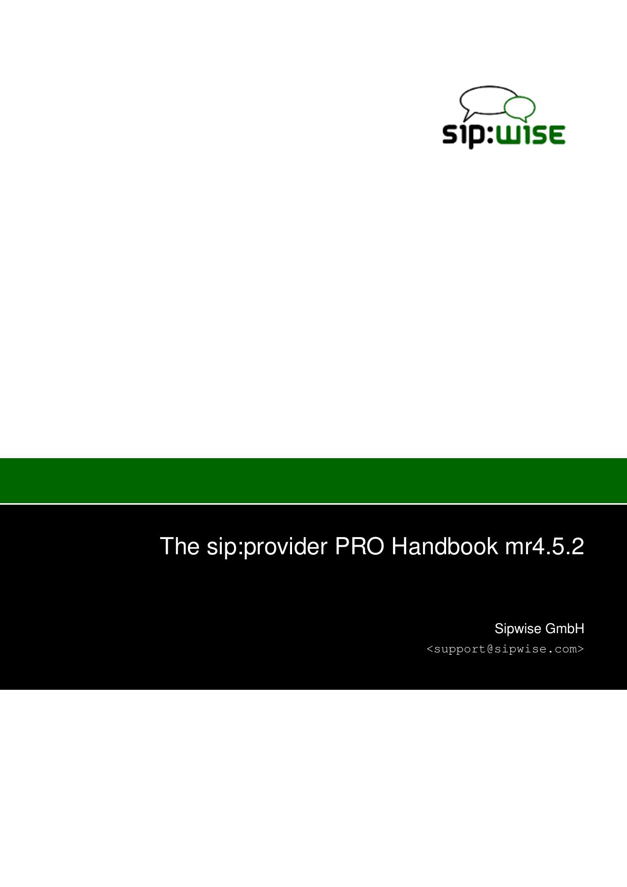 The sip:provider PRO Handbook mr4 5 2 | manualzz com