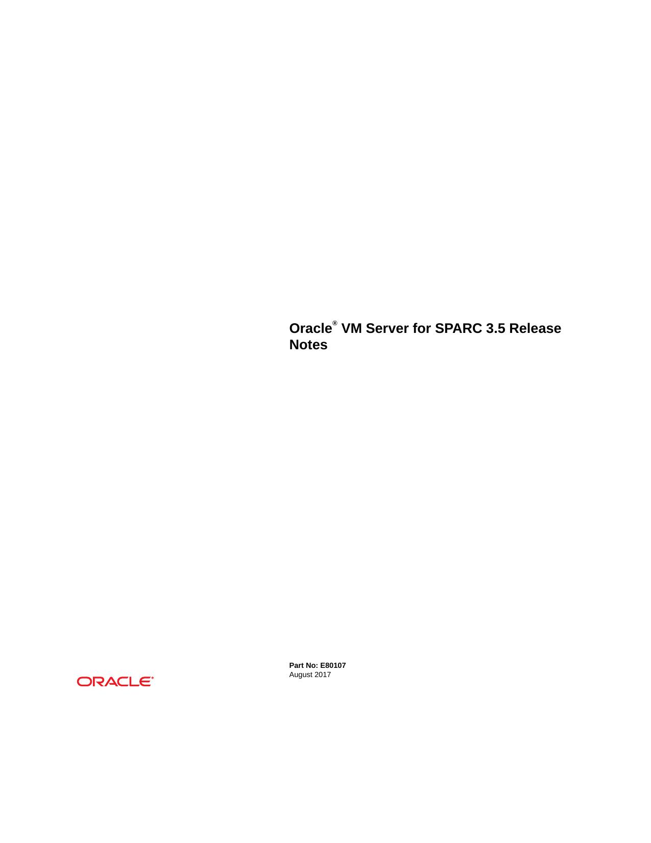 Oracle® VM Server for SPARC 3 5 Release Notes | manualzz com