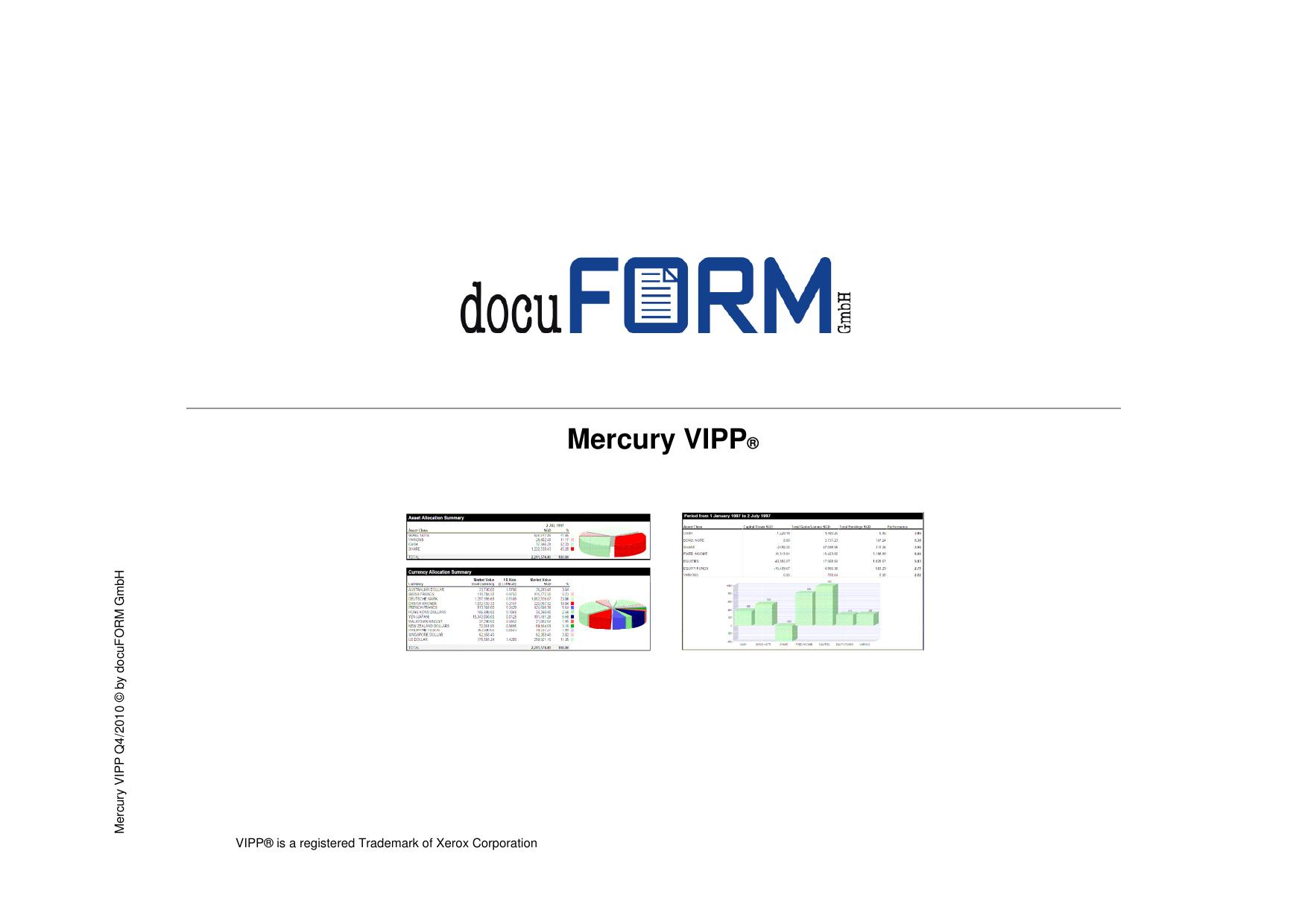 Mercury VIPP - Docuform GmbH   manualzz com