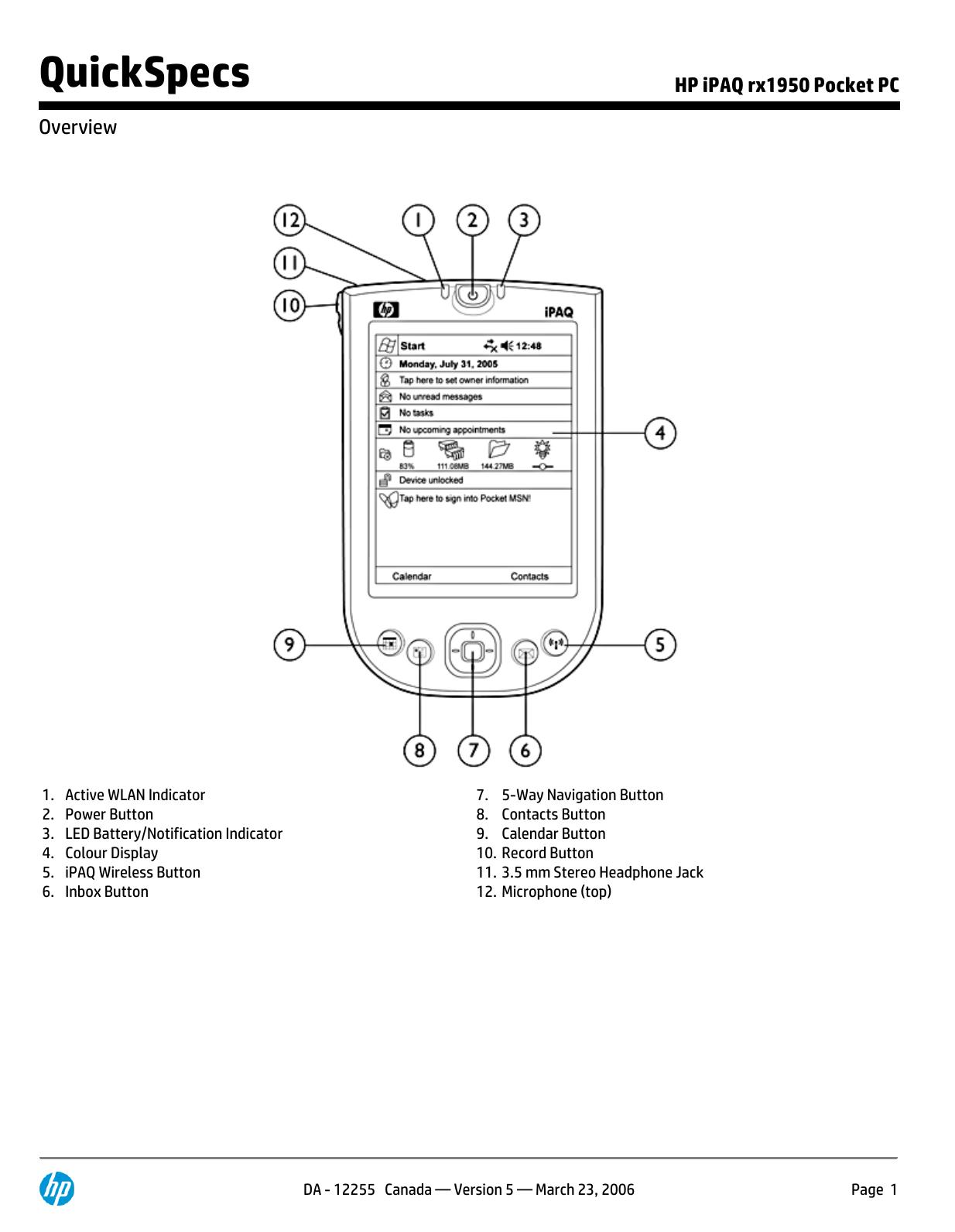 HP iPAQ rx1950 Pocket PC | manualzz com