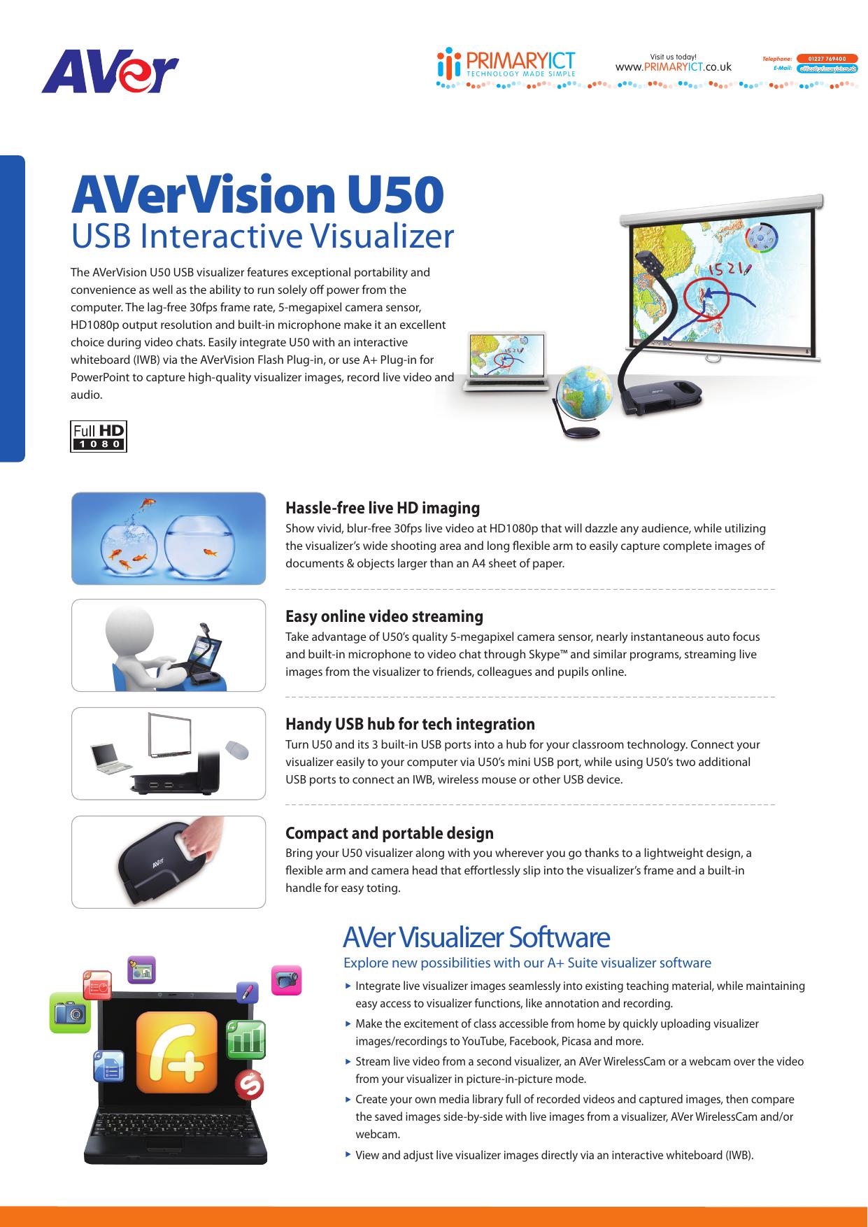 AVerVision U50 | manualzz com