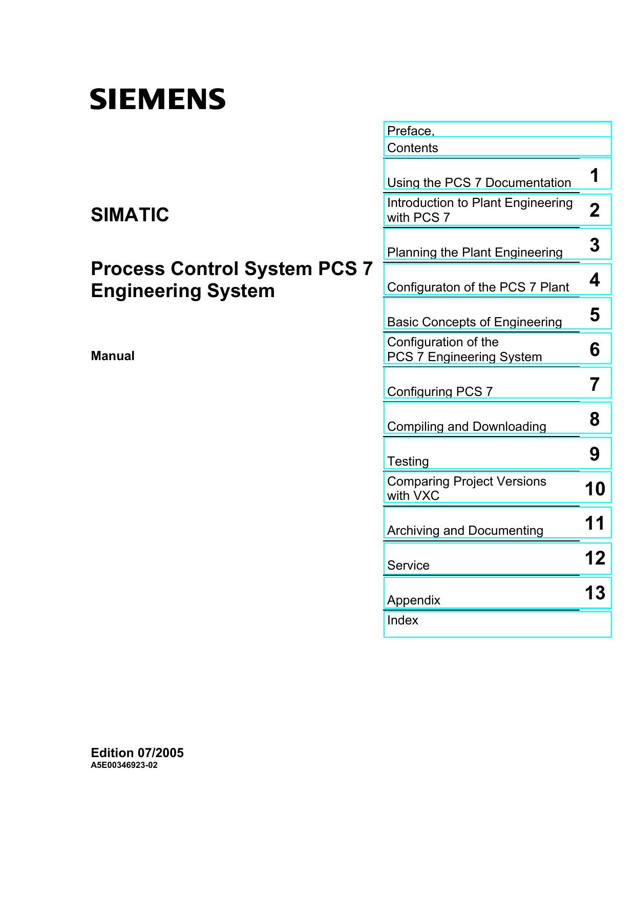 Process Control System PCS 7 - Engineering | manualzz com