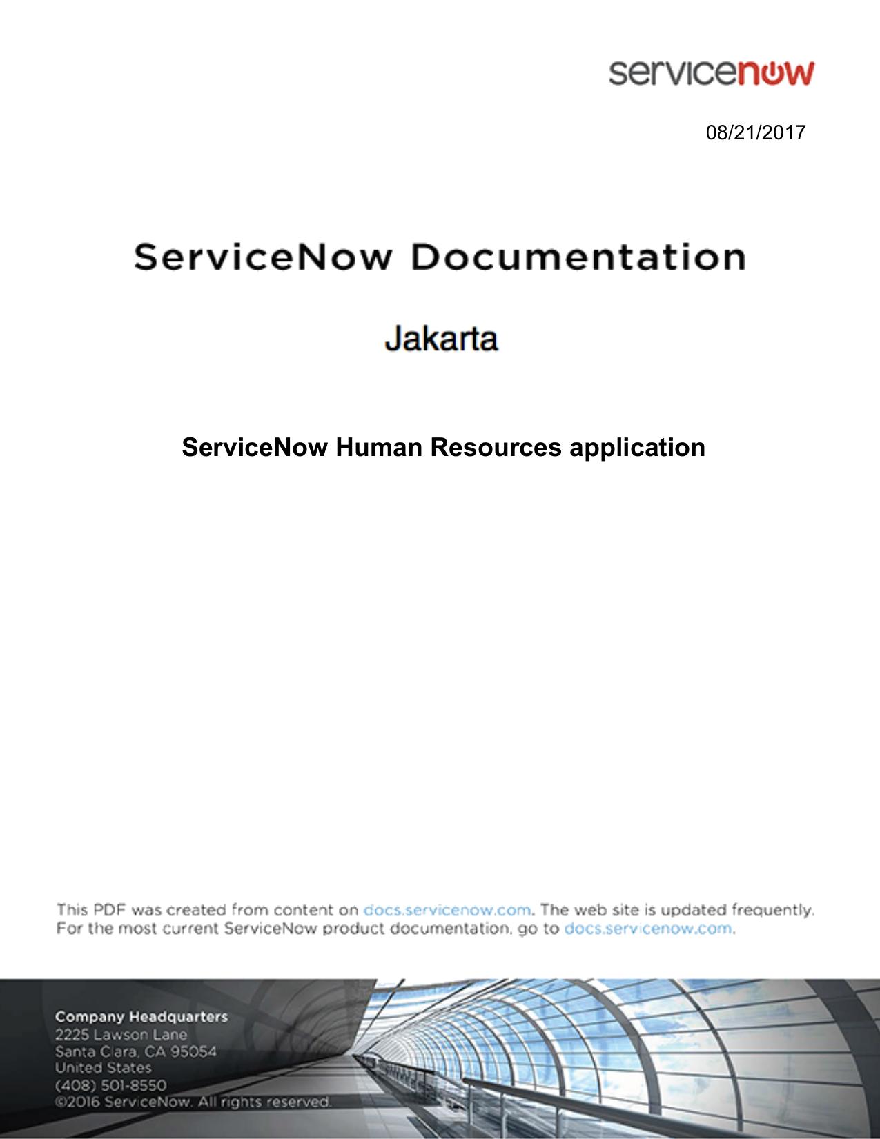 ServiceNow Human Resources application   manualzz com