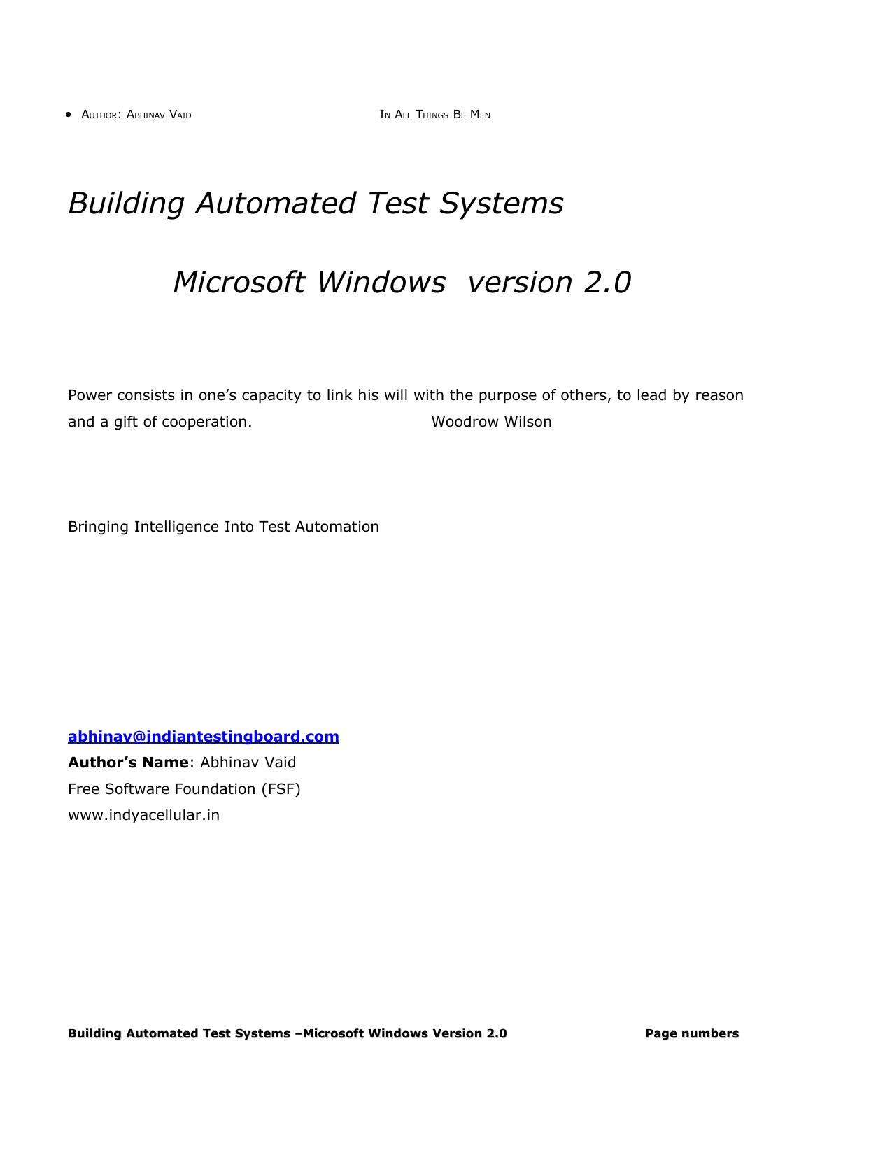 Building Automated Test Systems Microsoft Windows | manualzz com