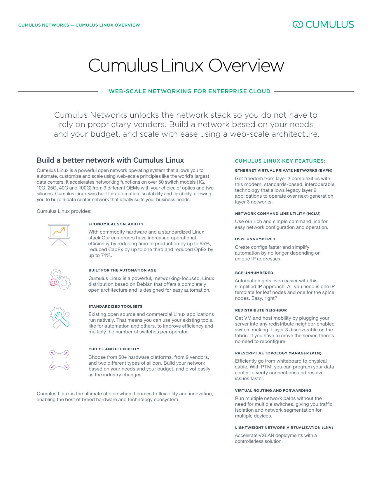 CumulusLinux Overview   manualzz com