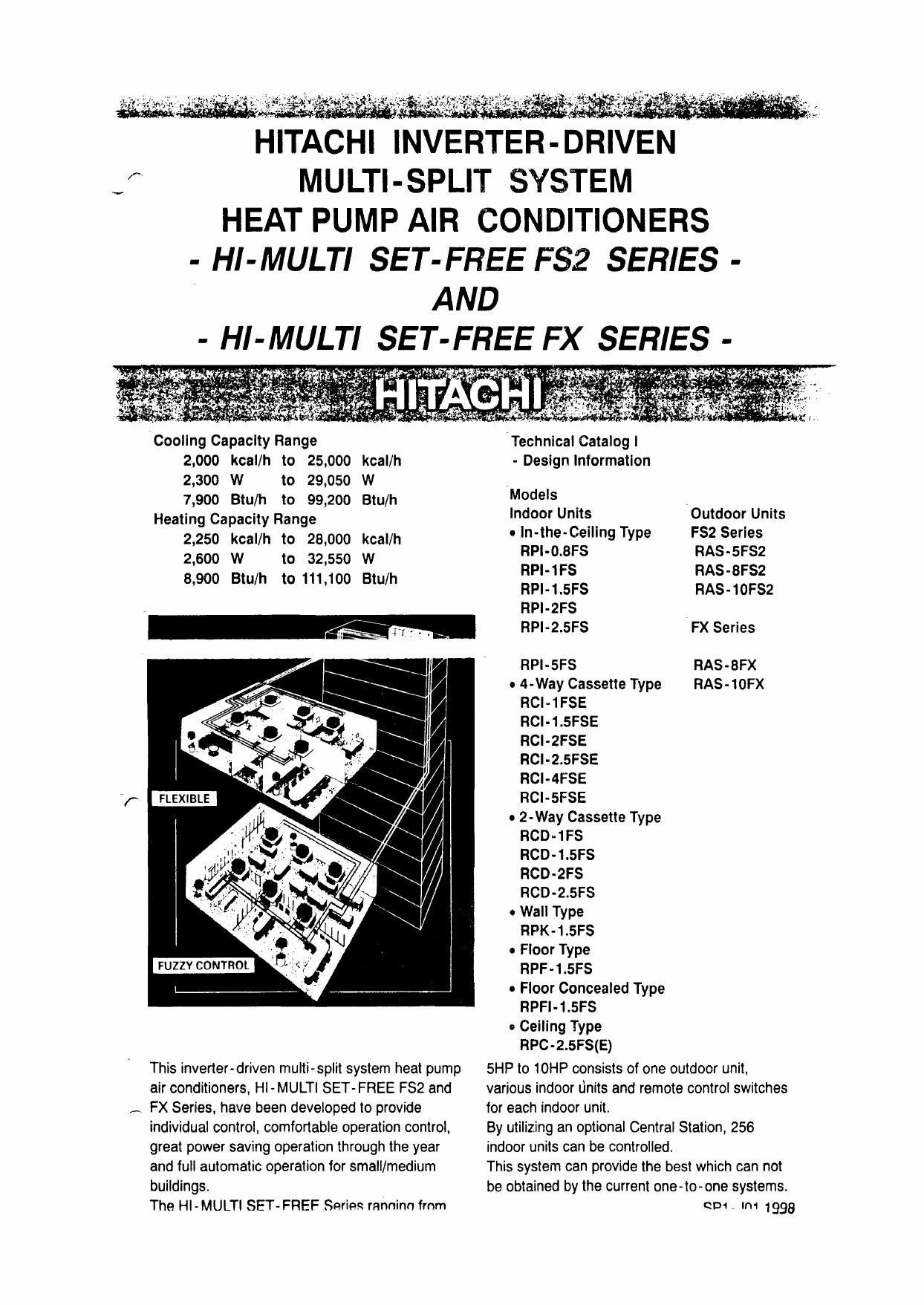 hitachi inverter-driven multi-split system heat pump air