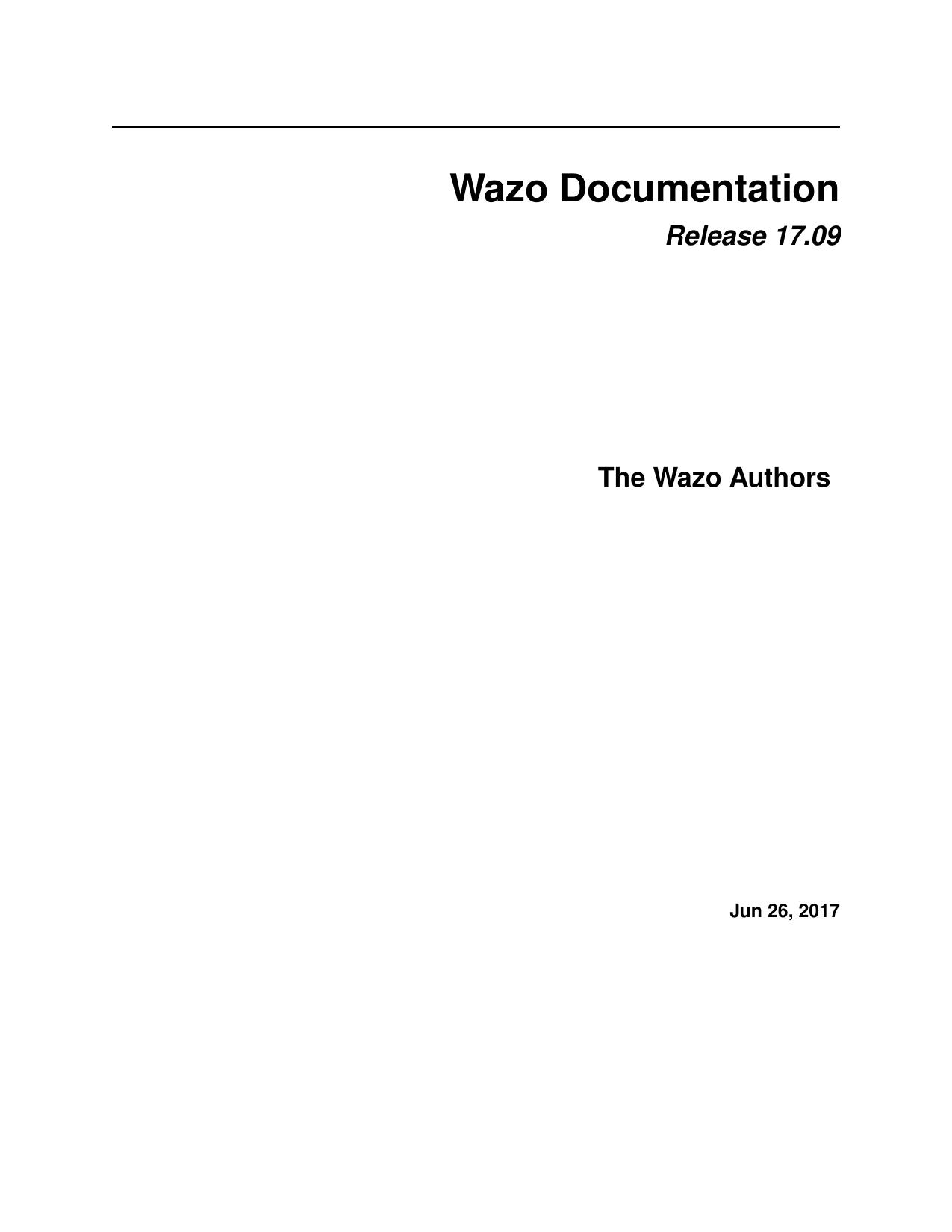 wazo documentation