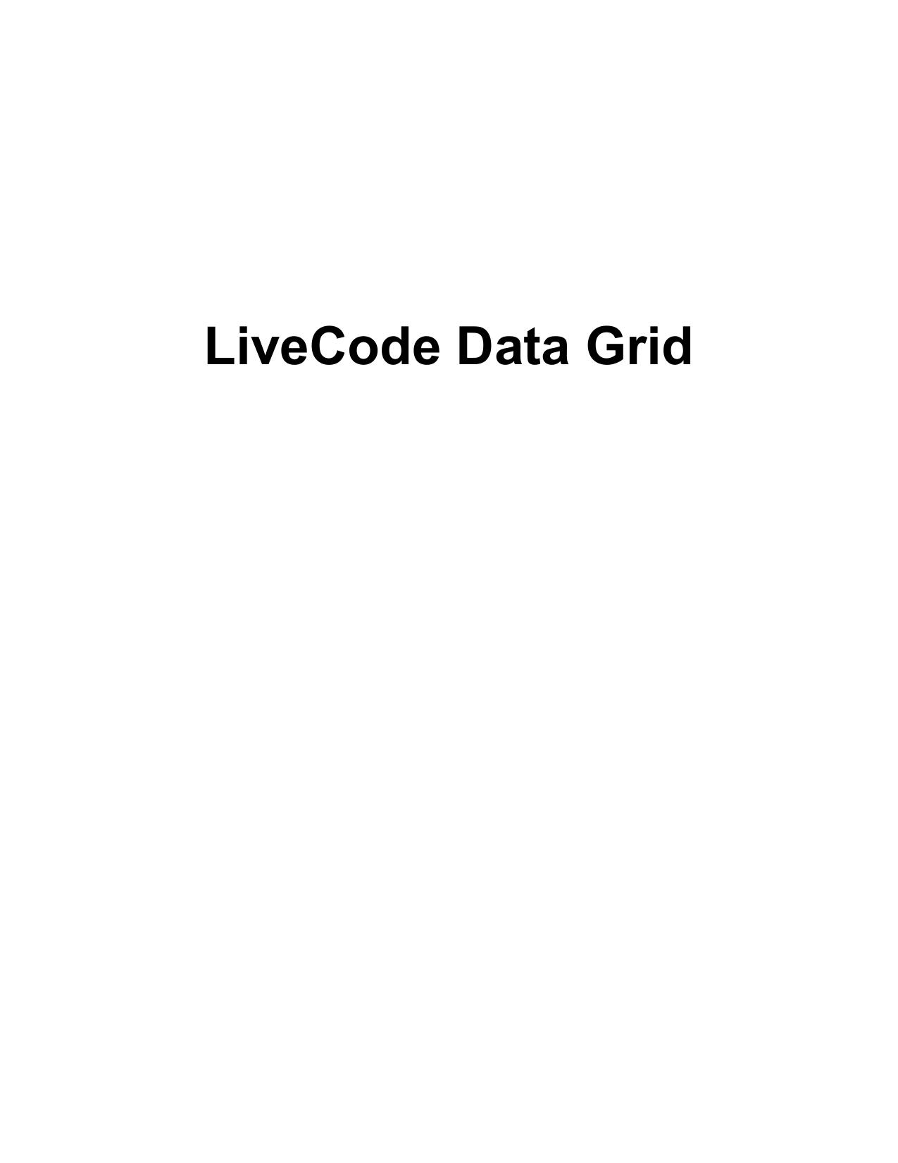 LiveCode Data Grid   manualzz com