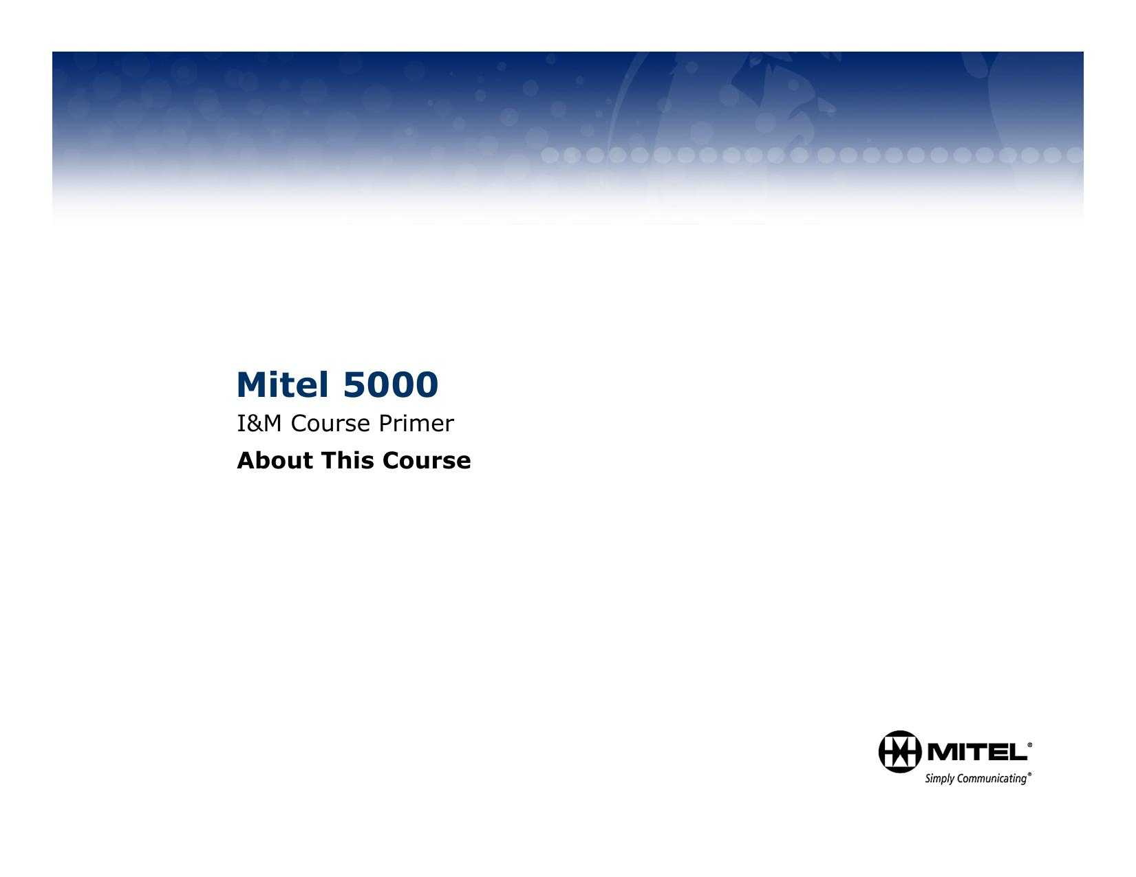 Mitel 5000 | manualzz com