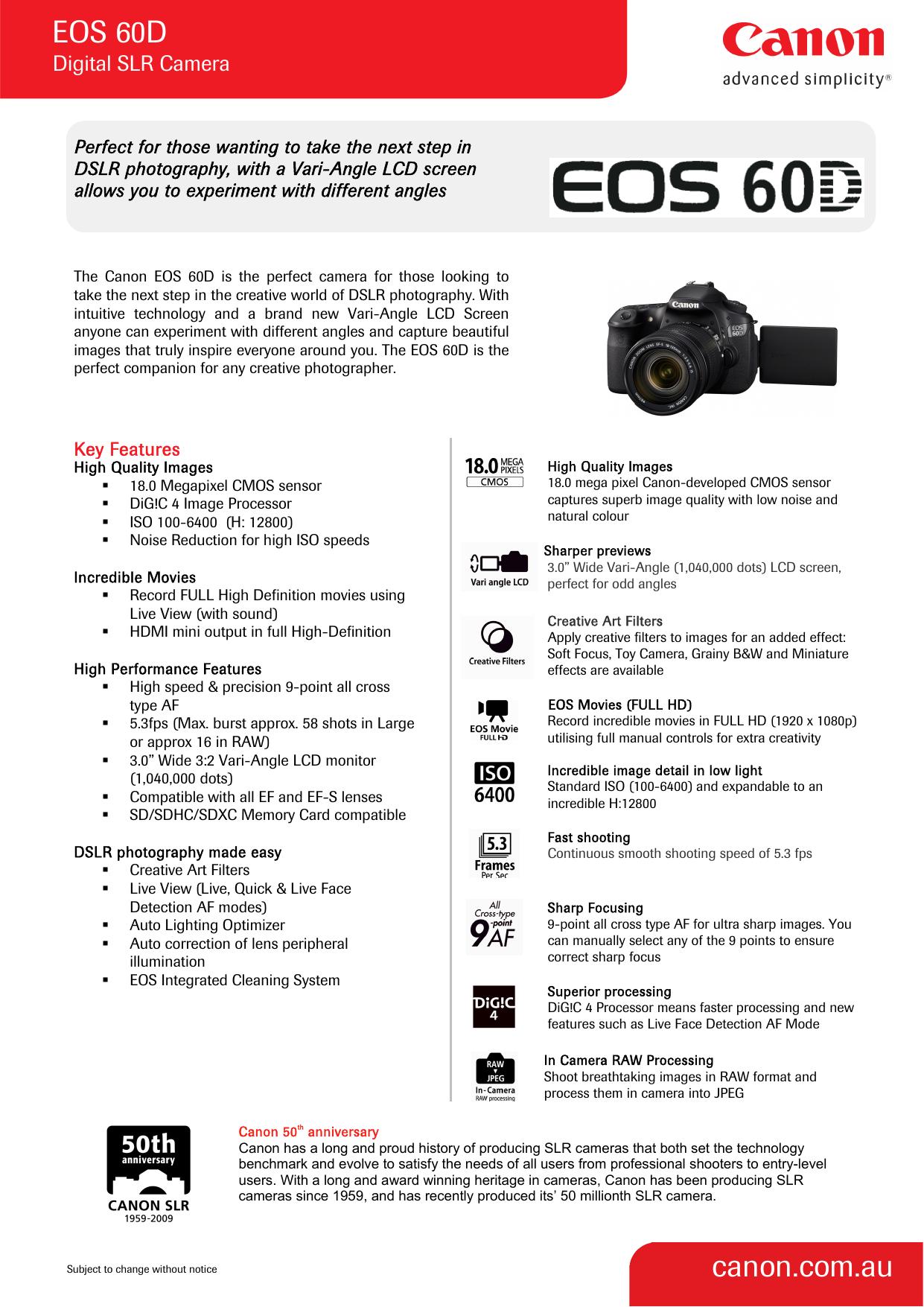 EOS 20D canon.com.au   Manualzz