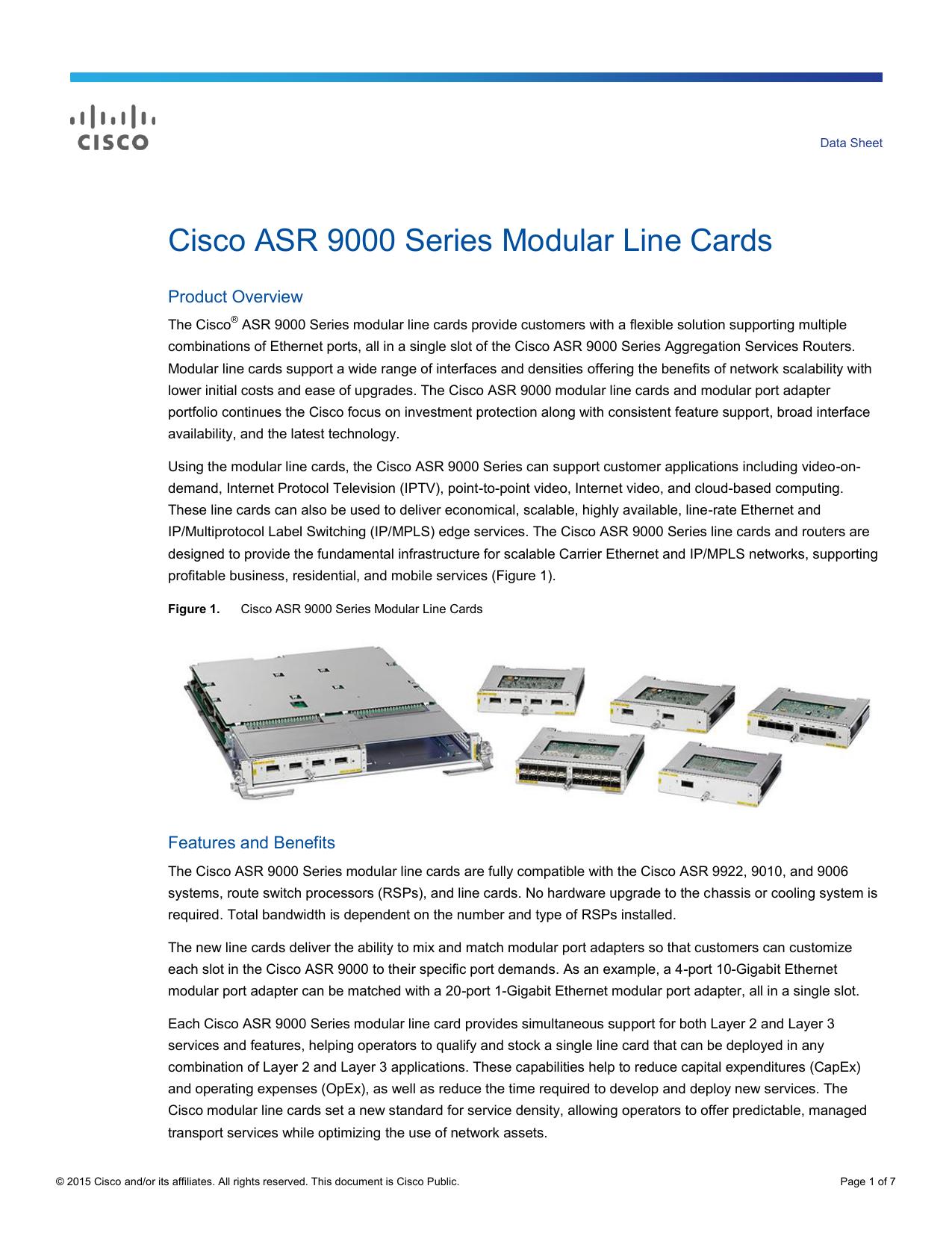 Cisco ASR 9000 Series Modular Line Cards Data Sheet