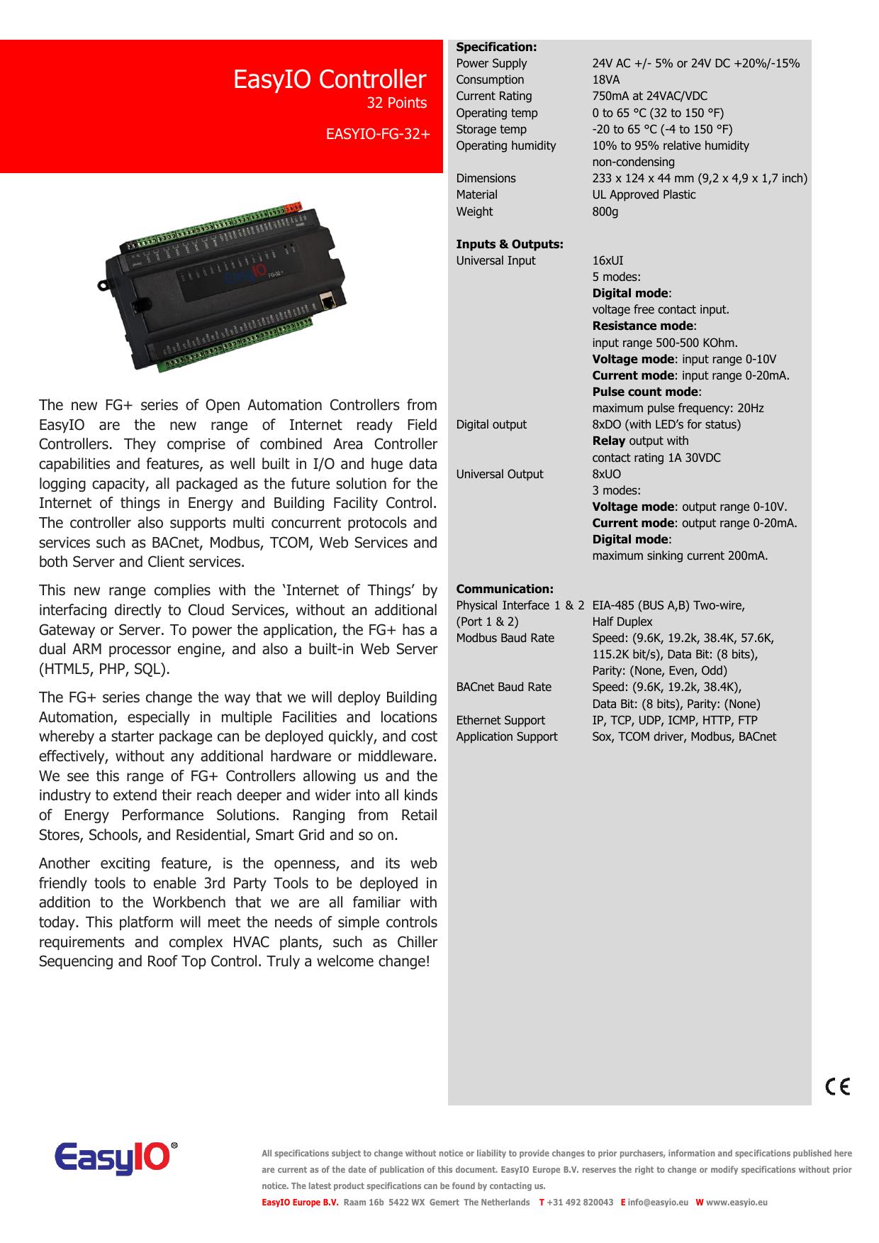 EasyIO Controller | manualzz com
