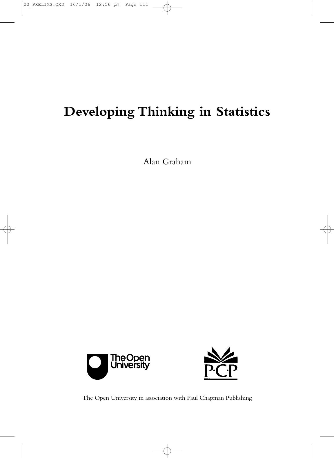 Developing Thinking in Statistics | manualzz.com
